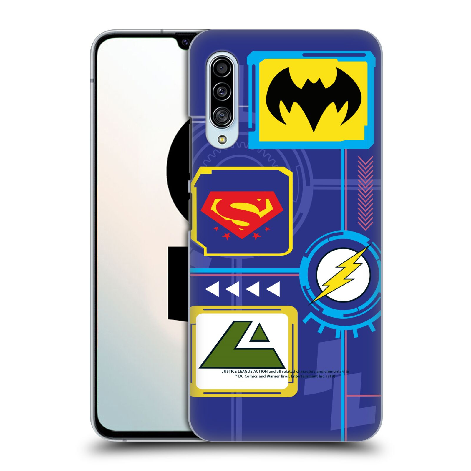 Official Justice League Action Logos Digital Case for Samsung Galaxy A90 5G (2019)