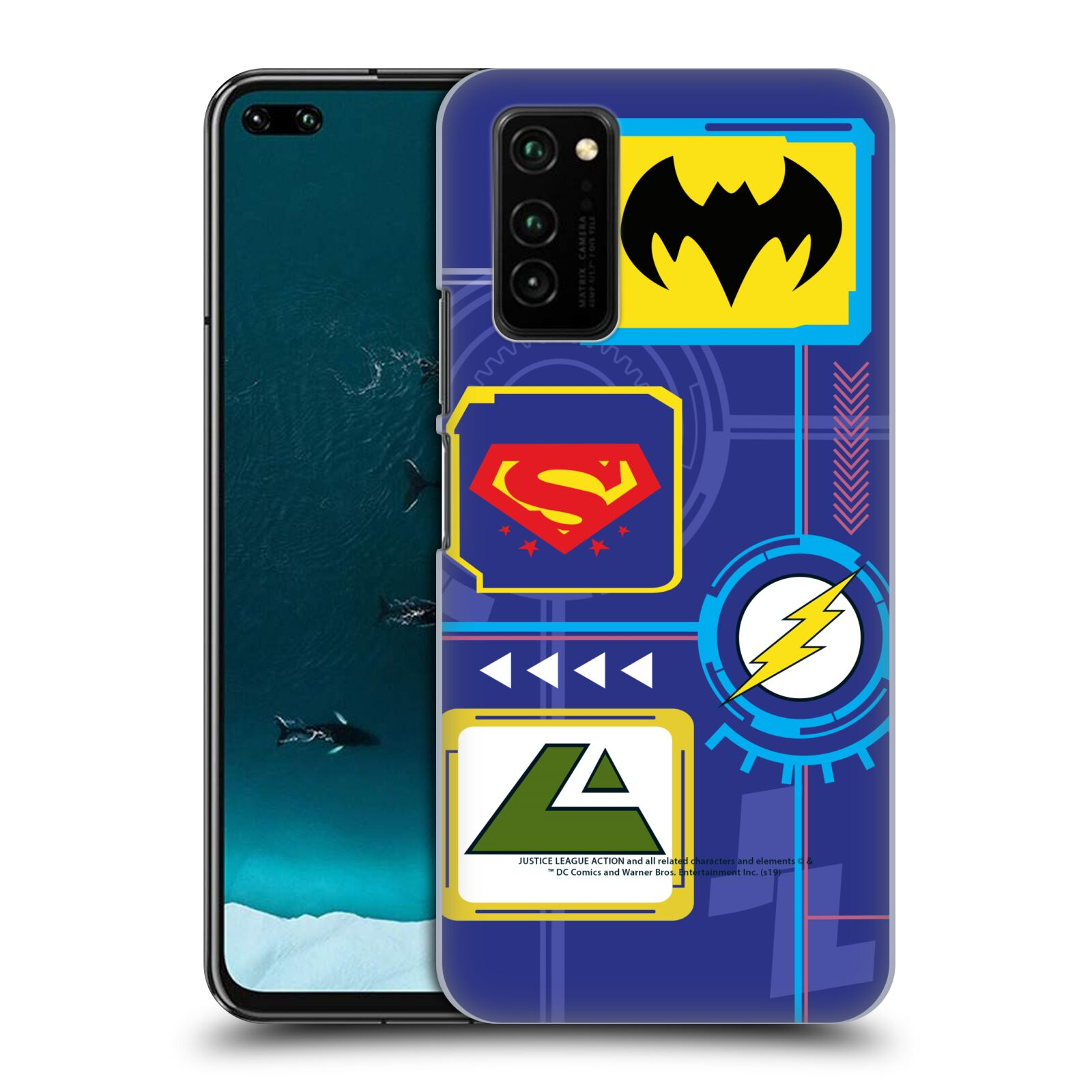 Official Justice League Action Logos Digital Case for Huawei Honor V30 / Honor View 30