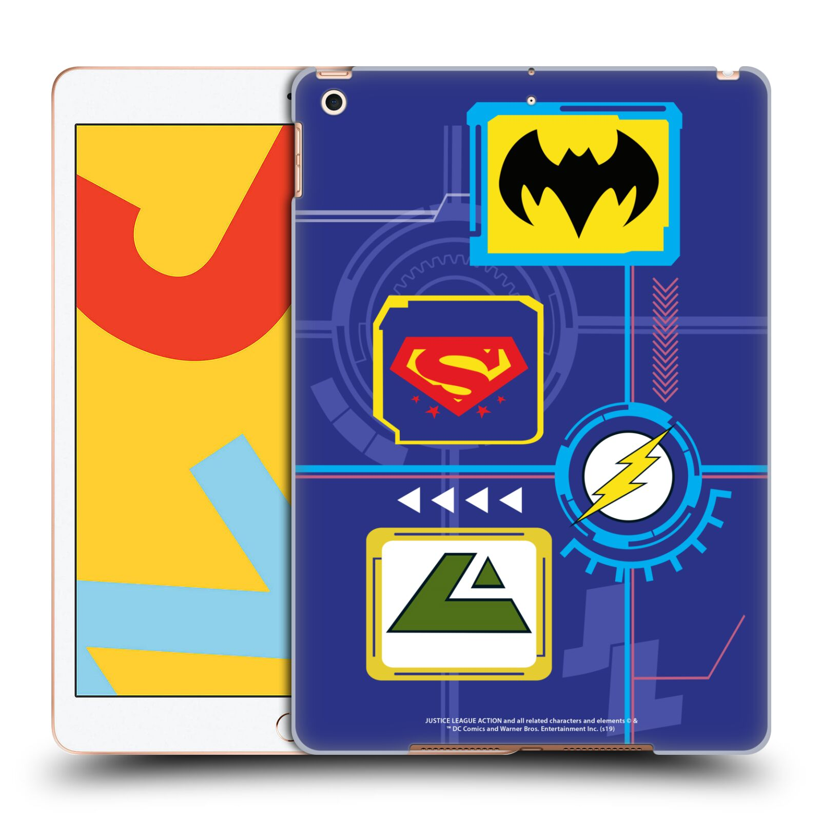 Official Justice League Action Logos Digital Case for Apple iPad 10.2 (2019)