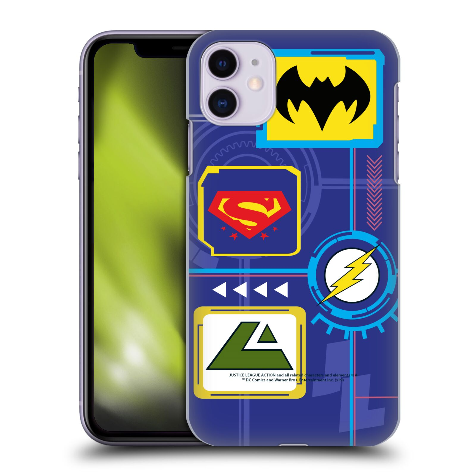 Official Justice League Action Logos Digital Case for Apple iPhone 11