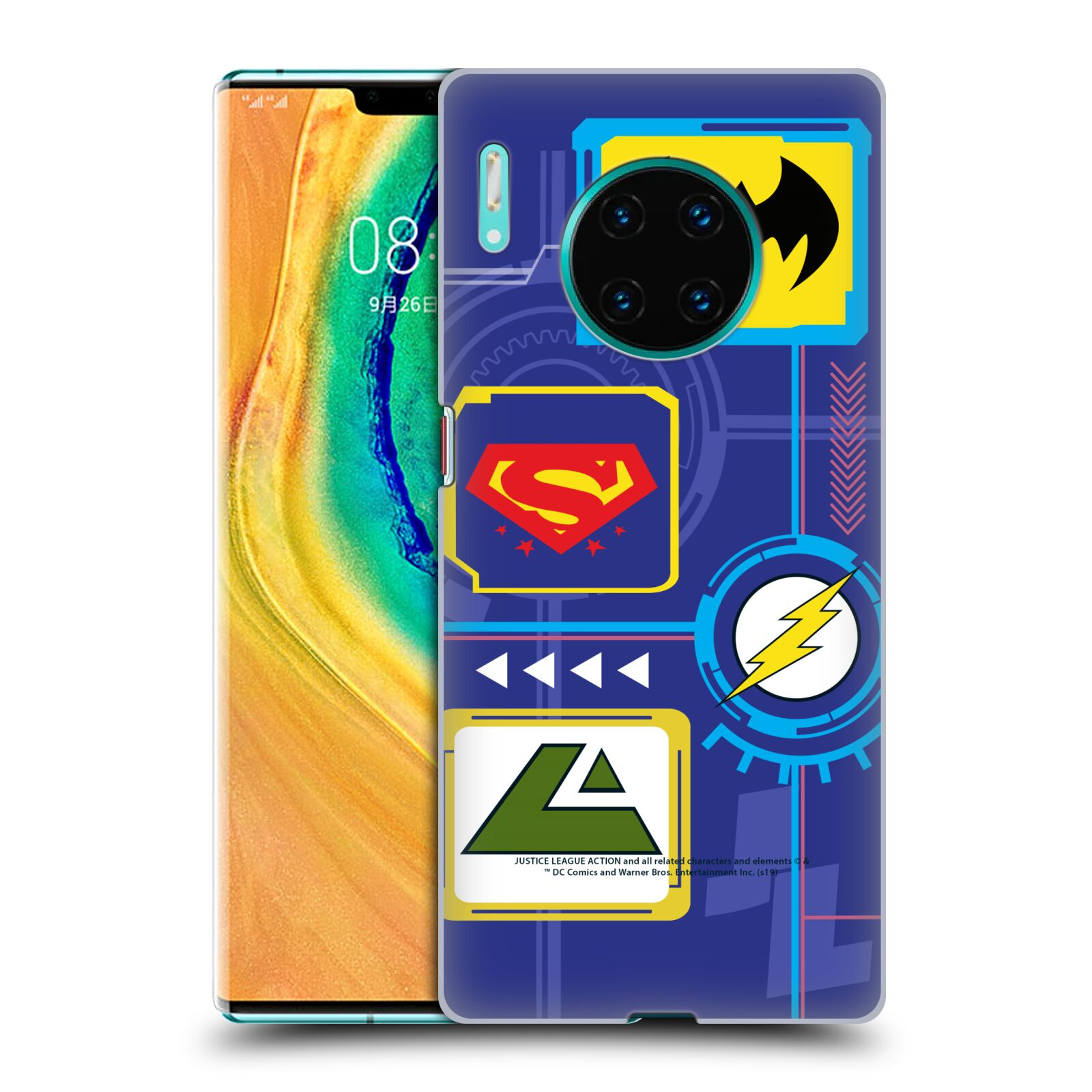 Official Justice League Action Logos Digital Case for Huawei Mate 30 Pro / 5G