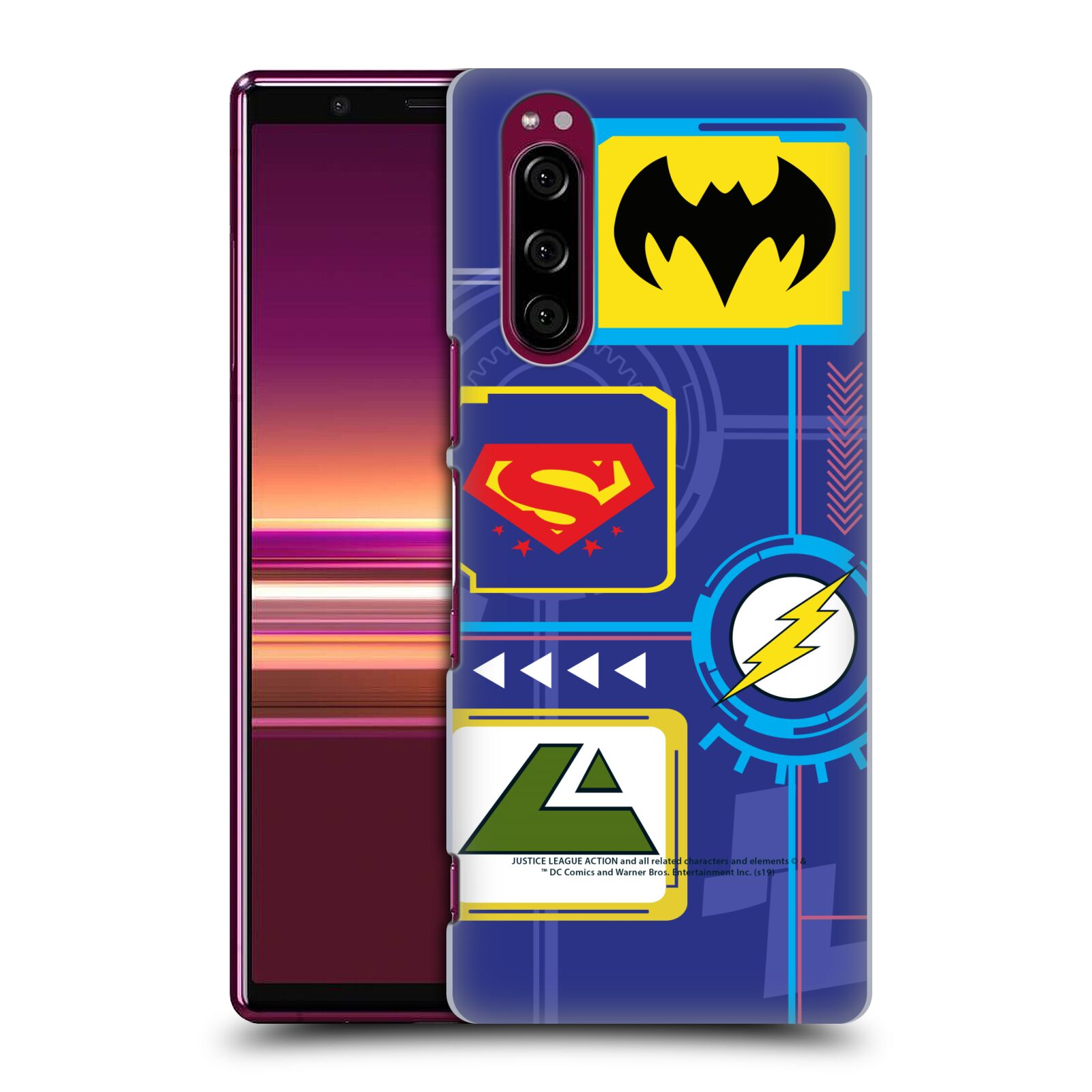 Official Justice League Action Logos Digital Case for Sony Xperia 5