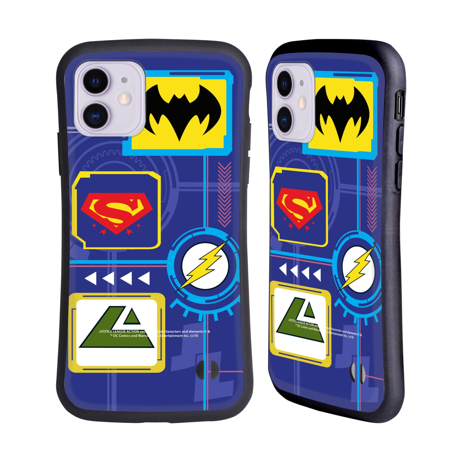 Official Justice League Action Logos Digital Hybrid Case for Apple iPhone 11