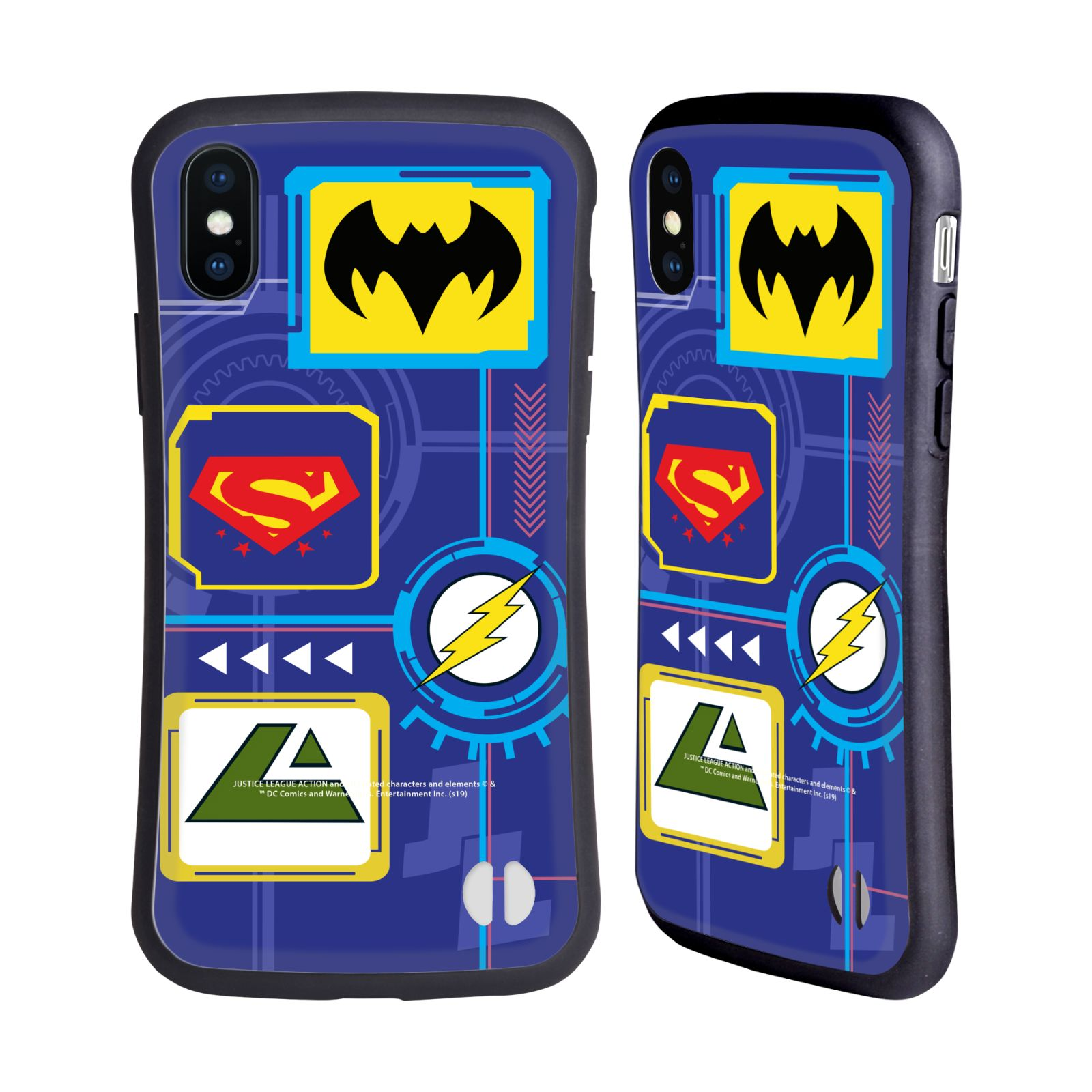 Official Justice League Action Logos Digital Hybrid Case for Apple iPhone X / iPhone XS