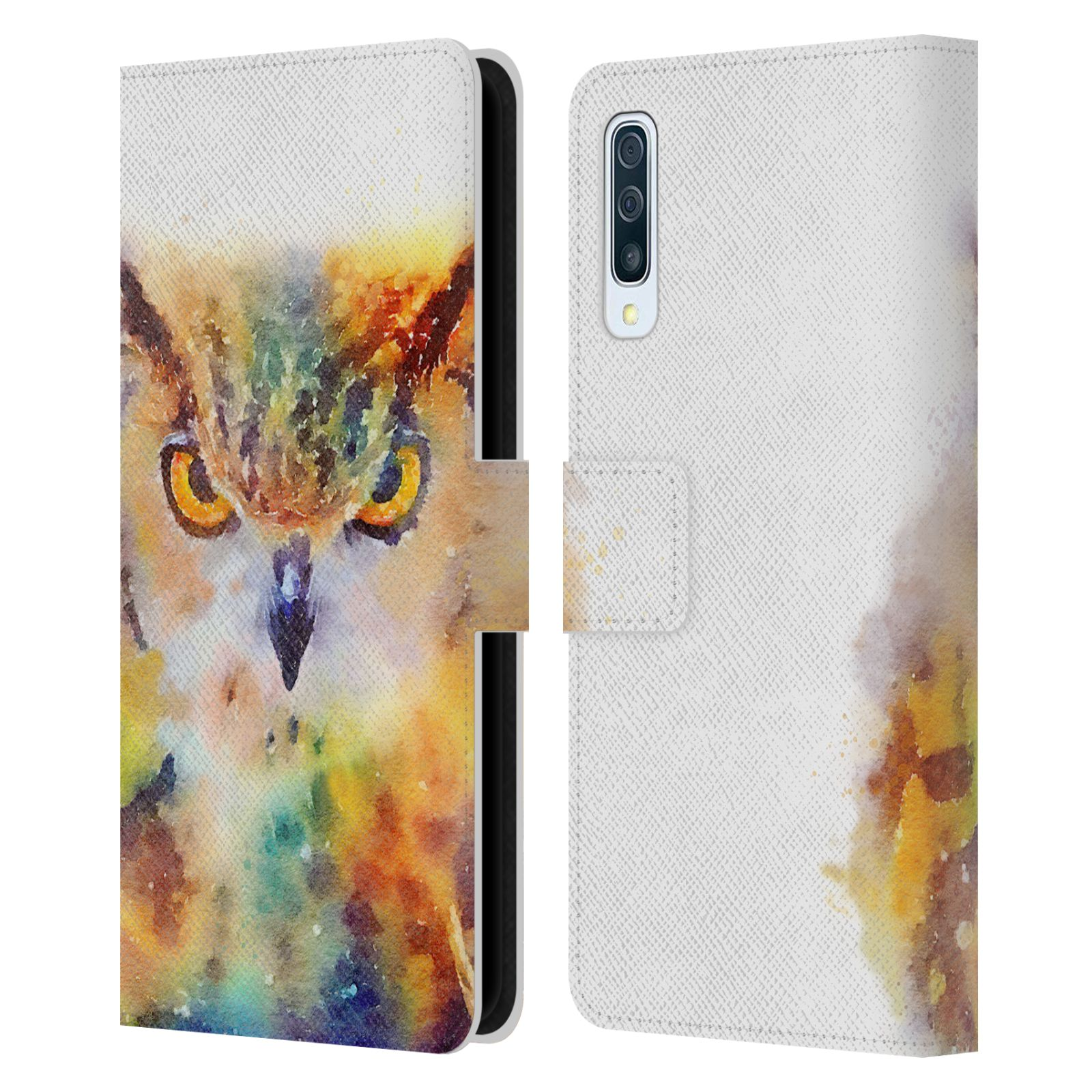 Official Jacqueline Maldonado Animals The Wise Leather Book Wallet Case For Samsung Galaxy A50s (2019)