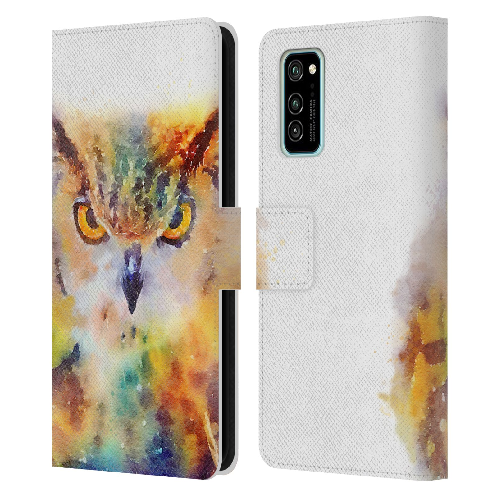 Official Jacqueline Maldonado Animals The Wise Leather Book Wallet Case For Huawei Honor V30 / Honor View 30