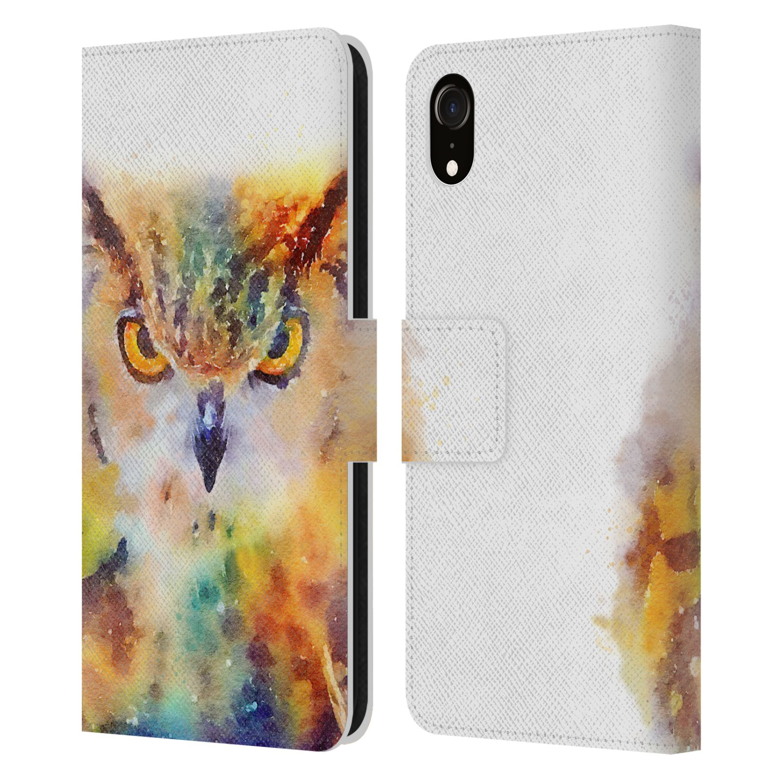 Official Jacqueline Maldonado Animals The Wise Leather Book Wallet Case For Apple iPhone XR