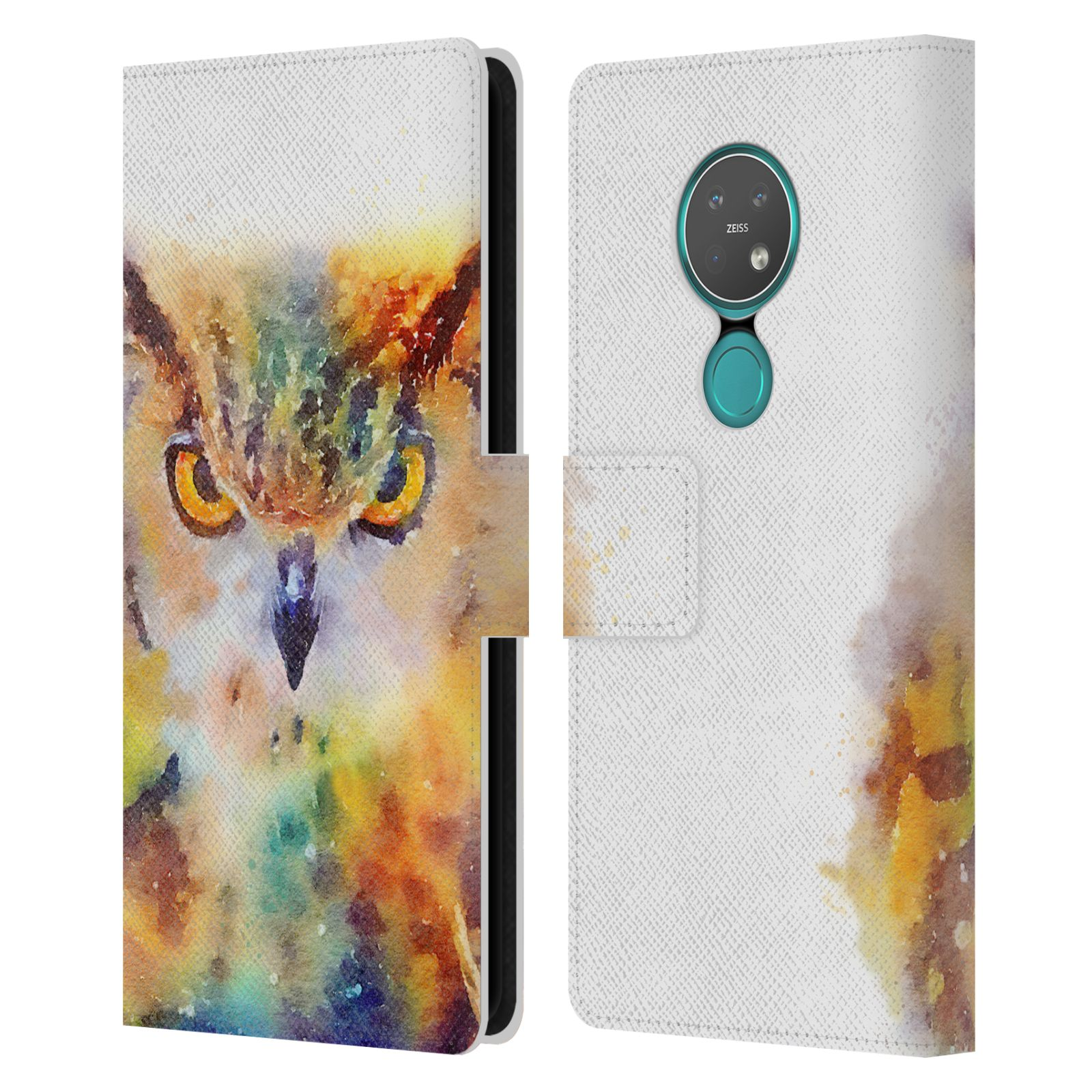 Official Jacqueline Maldonado Animals The Wise Leather Book Wallet Case For Nokia 7.2