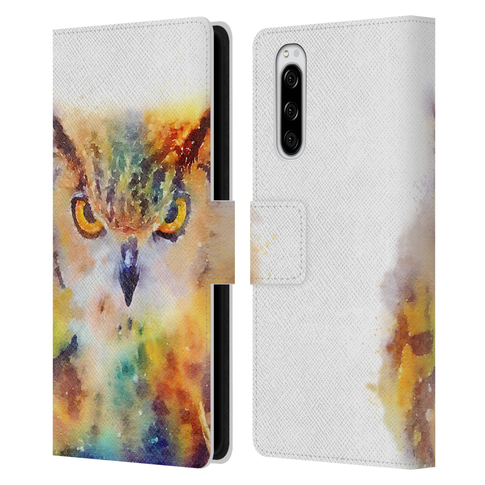 Official Jacqueline Maldonado Animals The Wise Leather Book Wallet Case For Sony Xperia 5