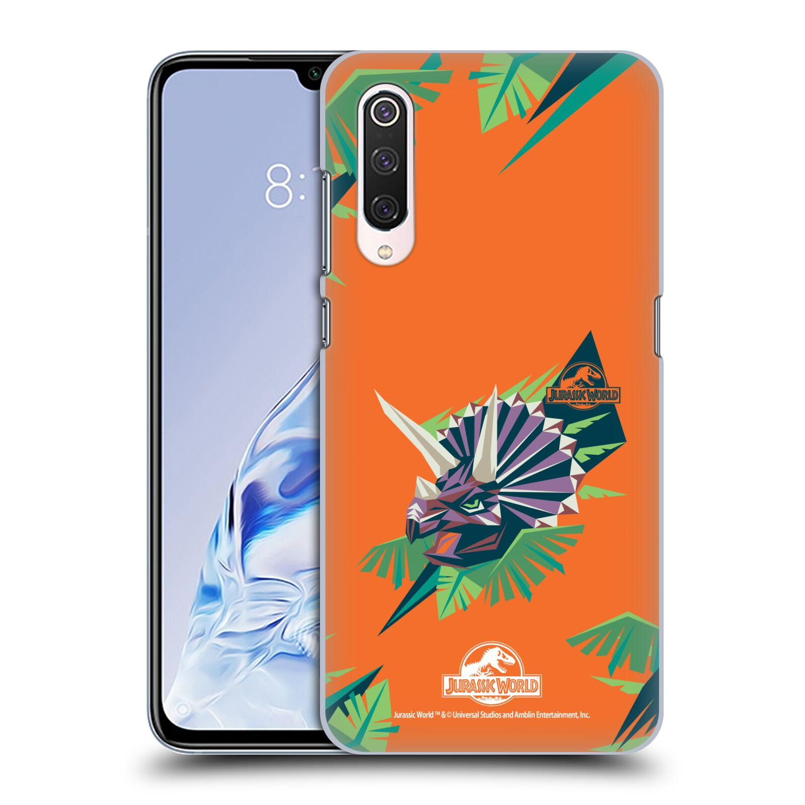 Official Jurassic World Trend Art Triceratops Geometric Case for Xiaomi Mi 9 Pro / 5G