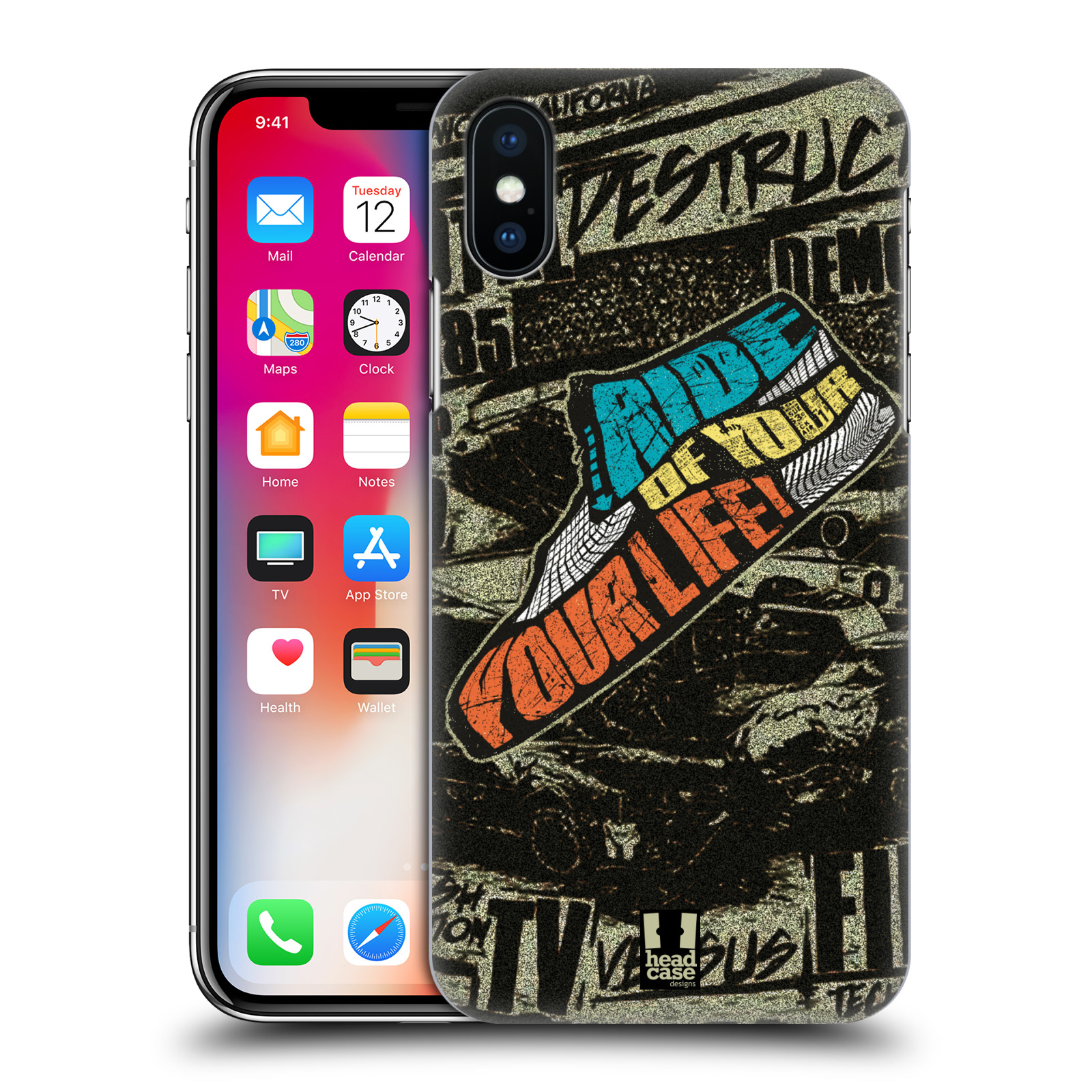 HEAD-CASE-DESIGNS-LIVE-BMX-ETUI-COQUE-D-039-ARRIERE-RIGIDE-POUR-APPLE-iPHONE-X