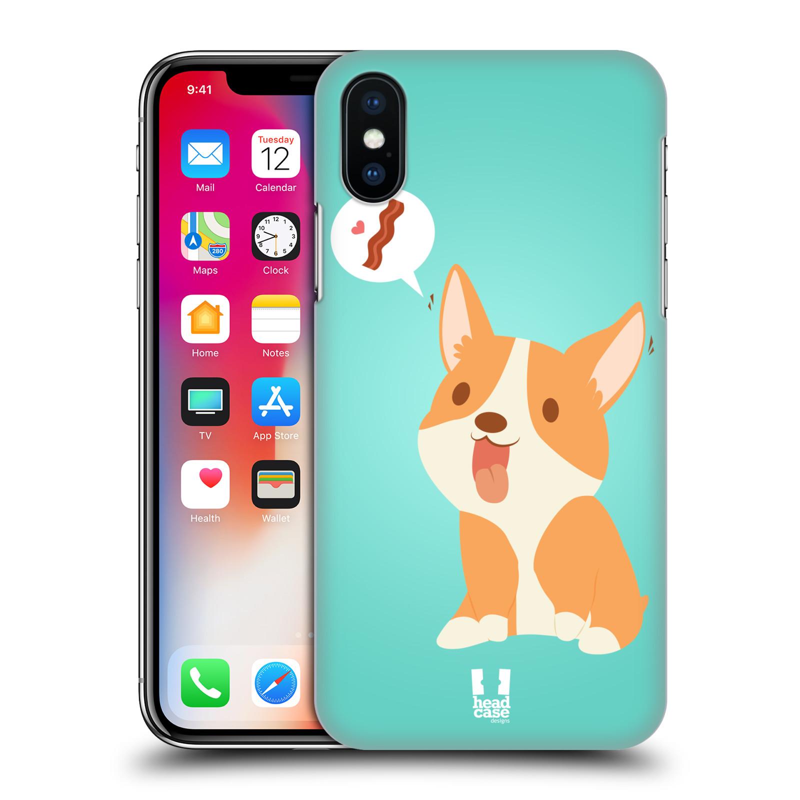 HEAD-CASE-DESIGNS-LIFE-OF-A-CORGI-HARD-BACK-CASE-FOR-APPLE-iPHONE-X
