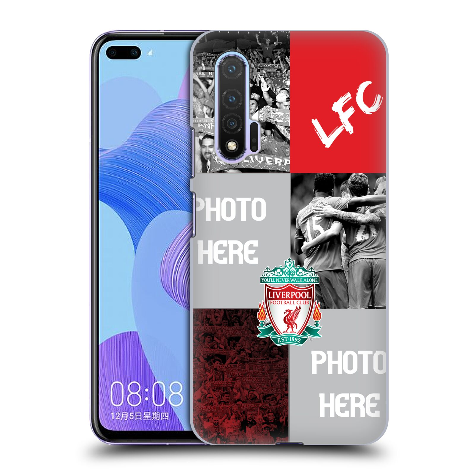 Custom Customised Personalised Liverpool Football Club Liverpool Fc Celebration Crest Case for Huawei Nova 6 5G