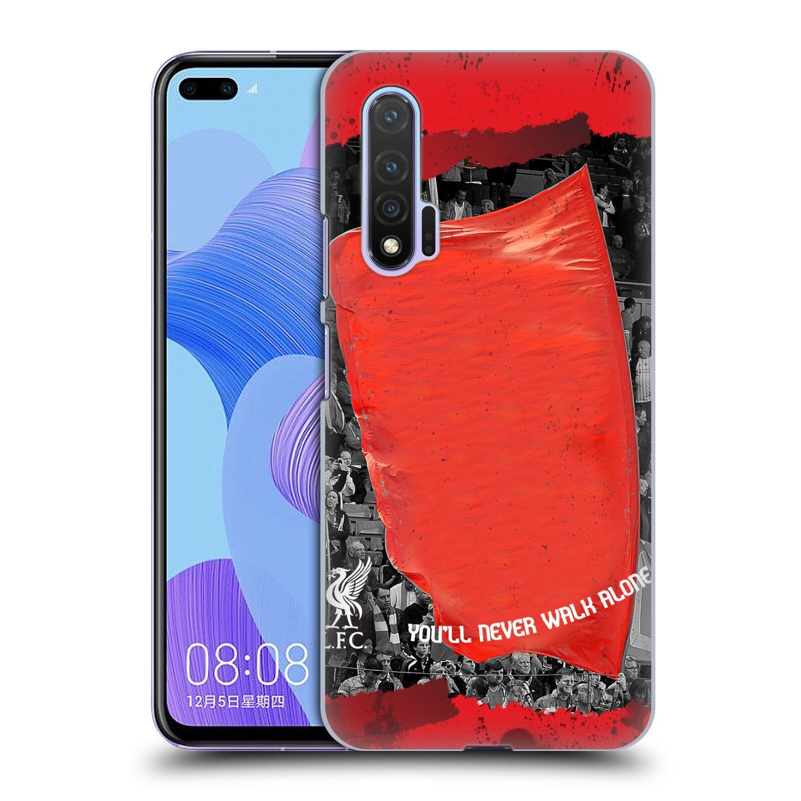 Custom Customised Personalised Liverpool Football Club Liverpool Fc Red Banner Case for Huawei Nova 6 5G
