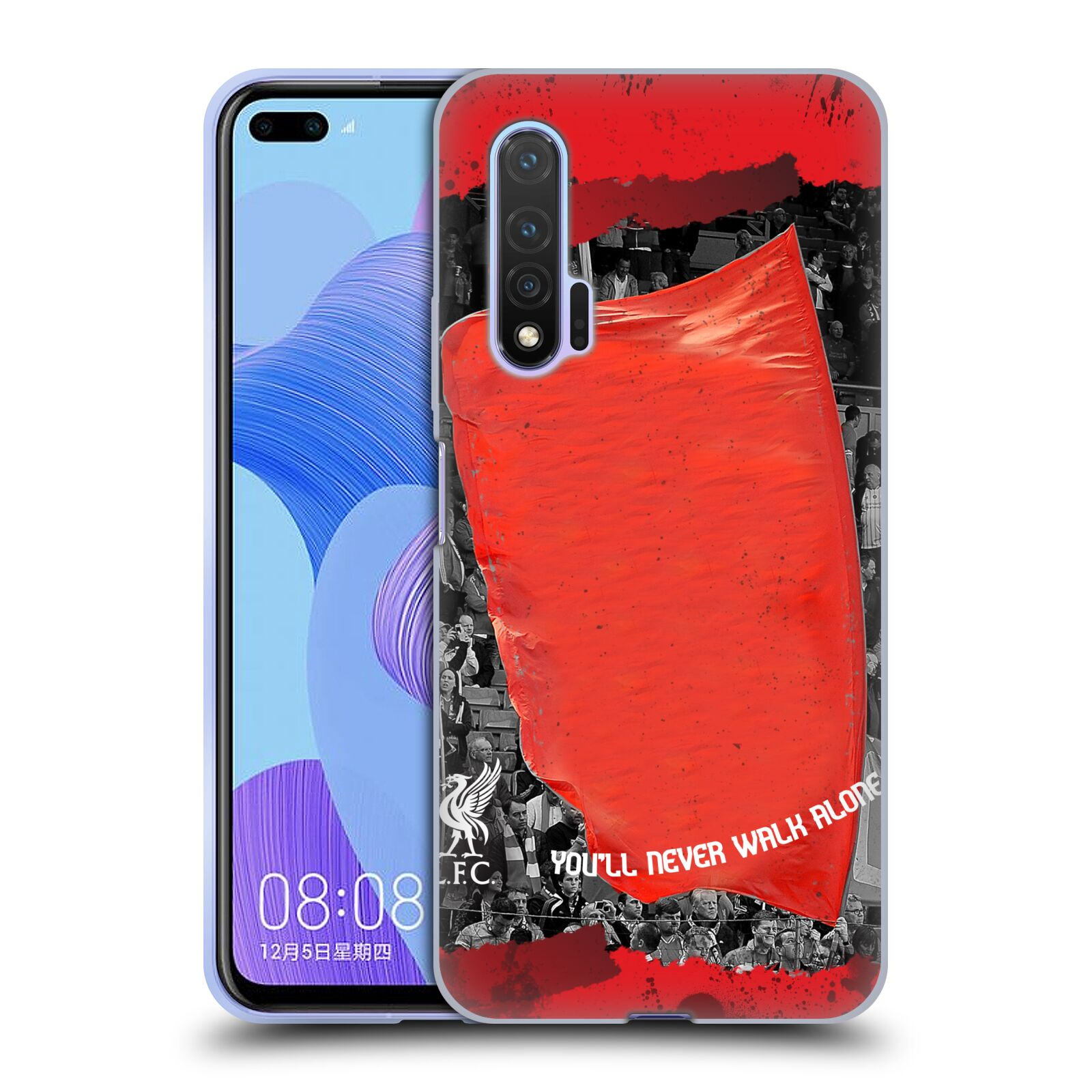 Custom Customised Personalised Liverpool Football Club Liverpool Fc Red Banner Gel Case for Huawei Nova 6 5G