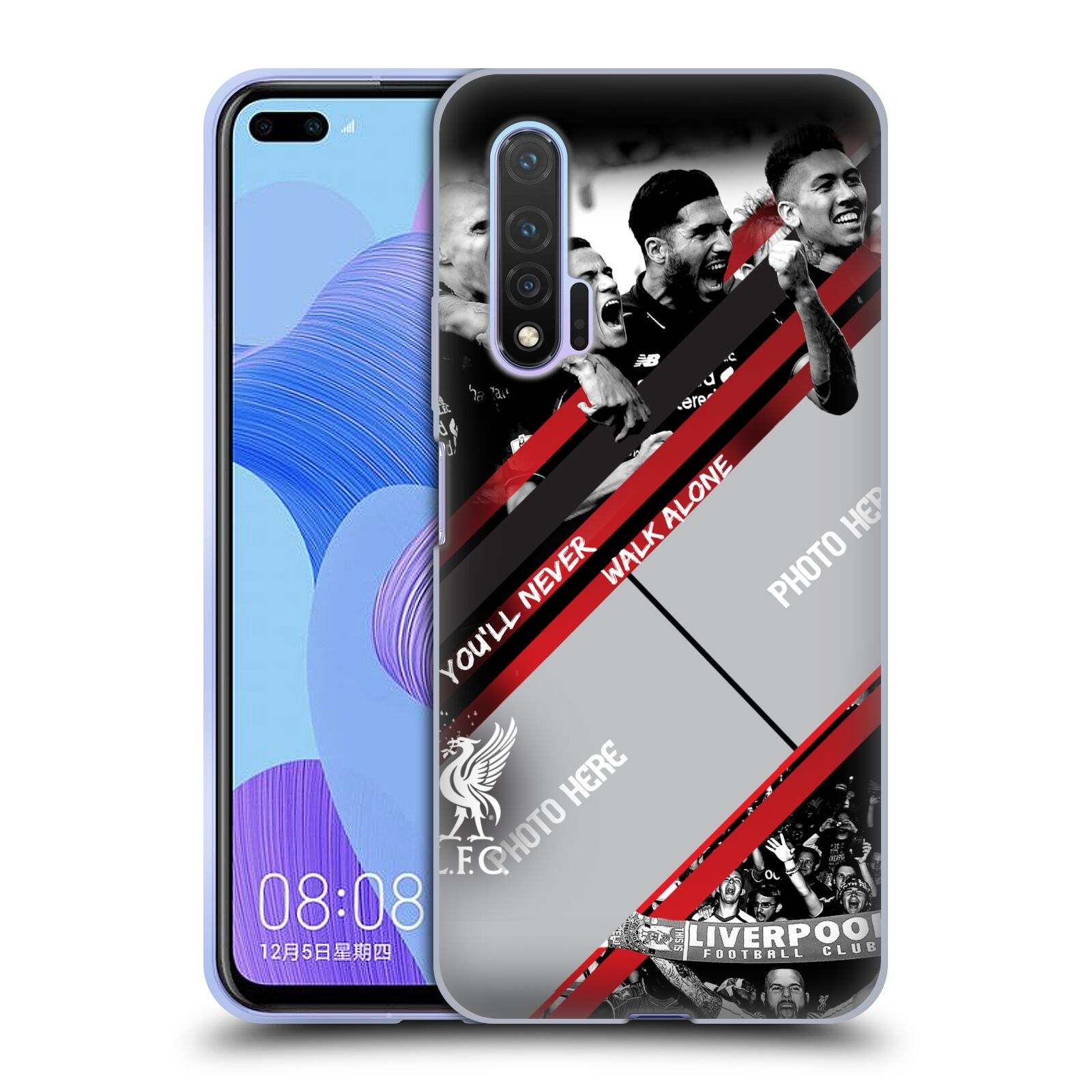 Custom Customised Personalised Liverpool Football Club Liverpool Fc Red Goal Gel Case for Huawei Nova 6 5G