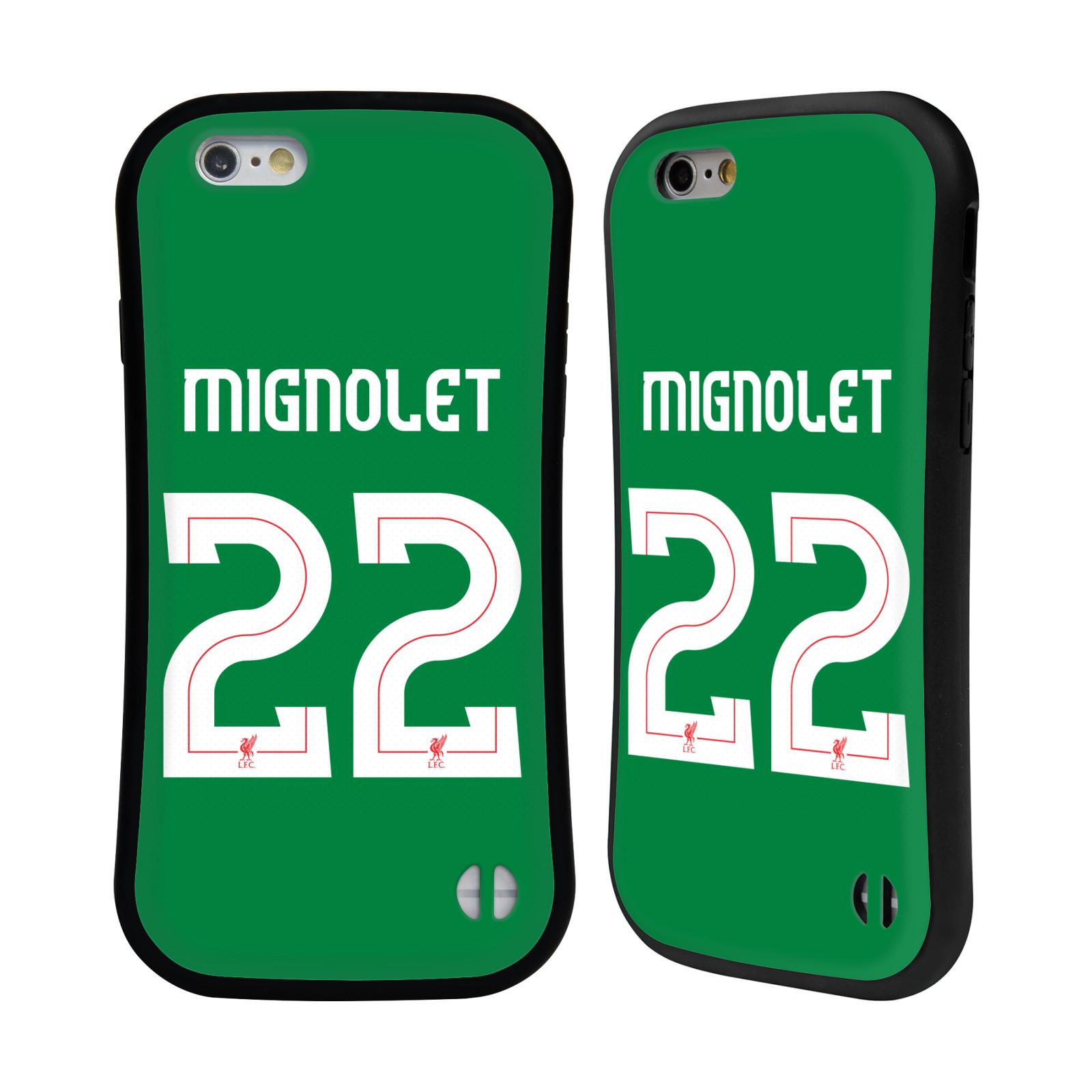 LIVERPOOL-FC-GIOCATORI-HOME-KIT-17-18-1-CASE-IBRIDA-PER-APPLE-iPHONES-TELEFONI