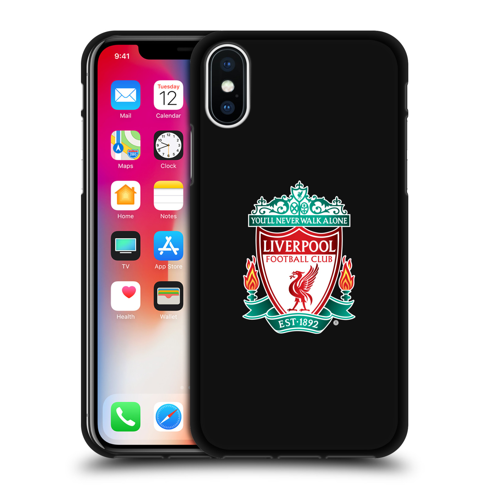 LIVERPOOL-FC-LFC-VARIOUS-DESIGNS-BLACK-SOFT-GEL-CASE-FOR-APPLE-iPHONE-PHONES