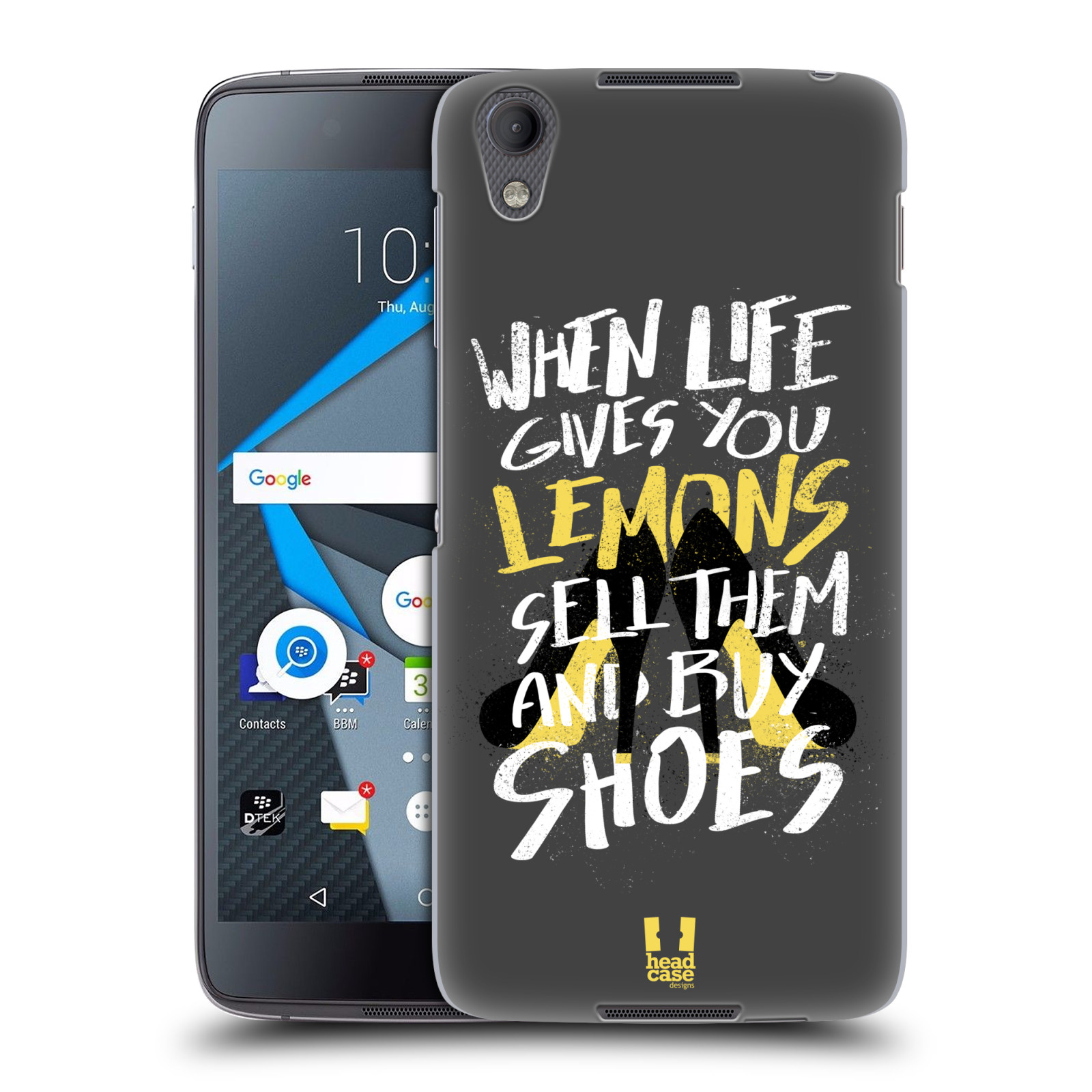 Funda HEAD CASE DESIGNS DE LA VIDA Y Limones Funda Rígida Posterior Para Blackberry Dtek 50/Neon