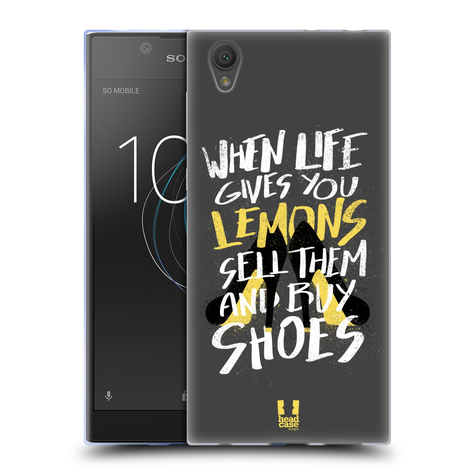 Diseños de la vida y limones HEAD CASE Gel Suave Estuche Para SONY XPERIA L1