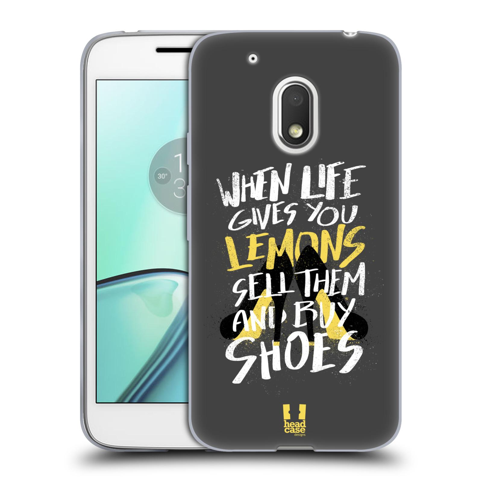 Diseños de la vida y limones HEAD CASE GEL suave estuche para MOTOROLA MOTO G4 PLAY
