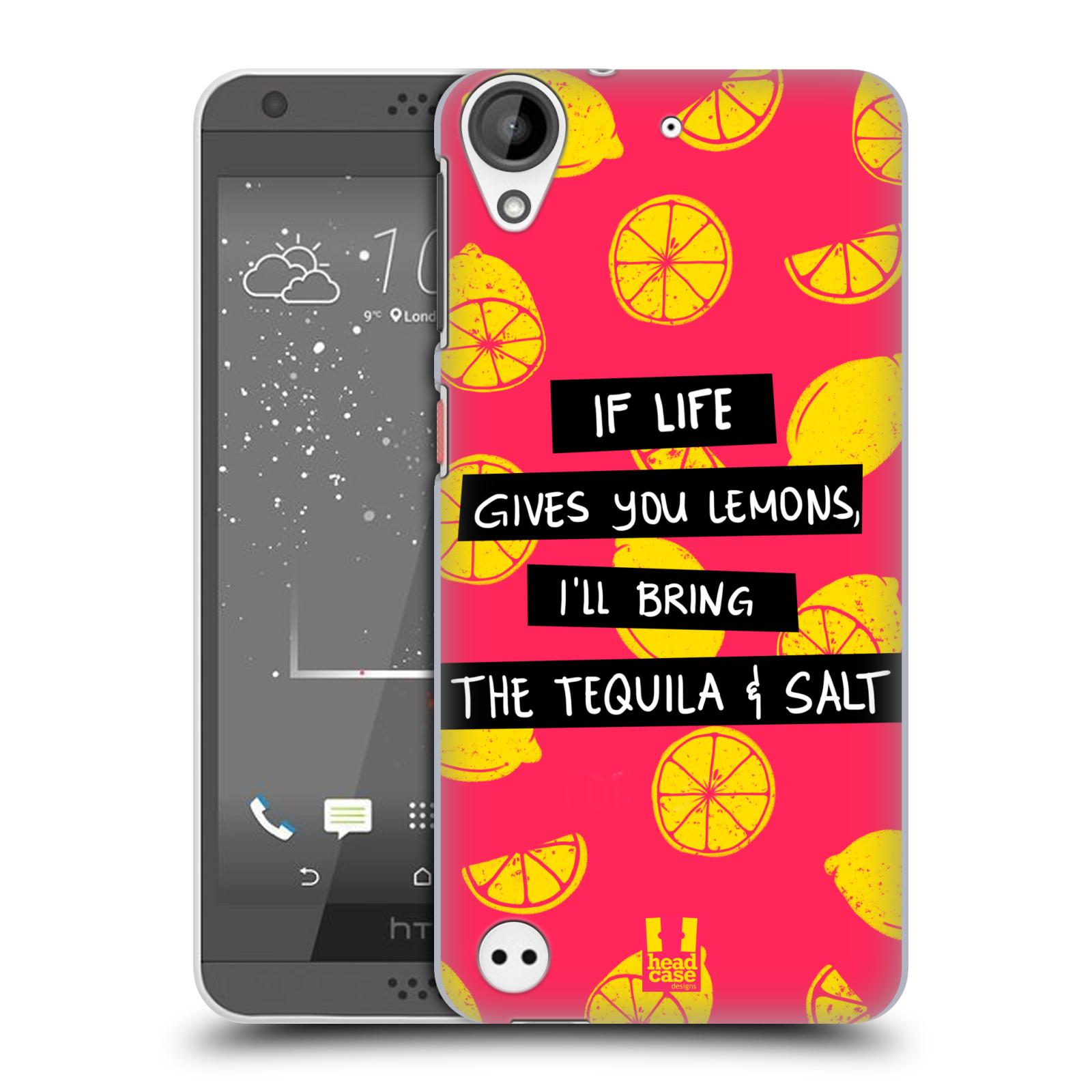 Diseños de la vida y limones HEAD CASE FUNDA RÍGIDA POSTERIOR PARA HTC DESIRE 530