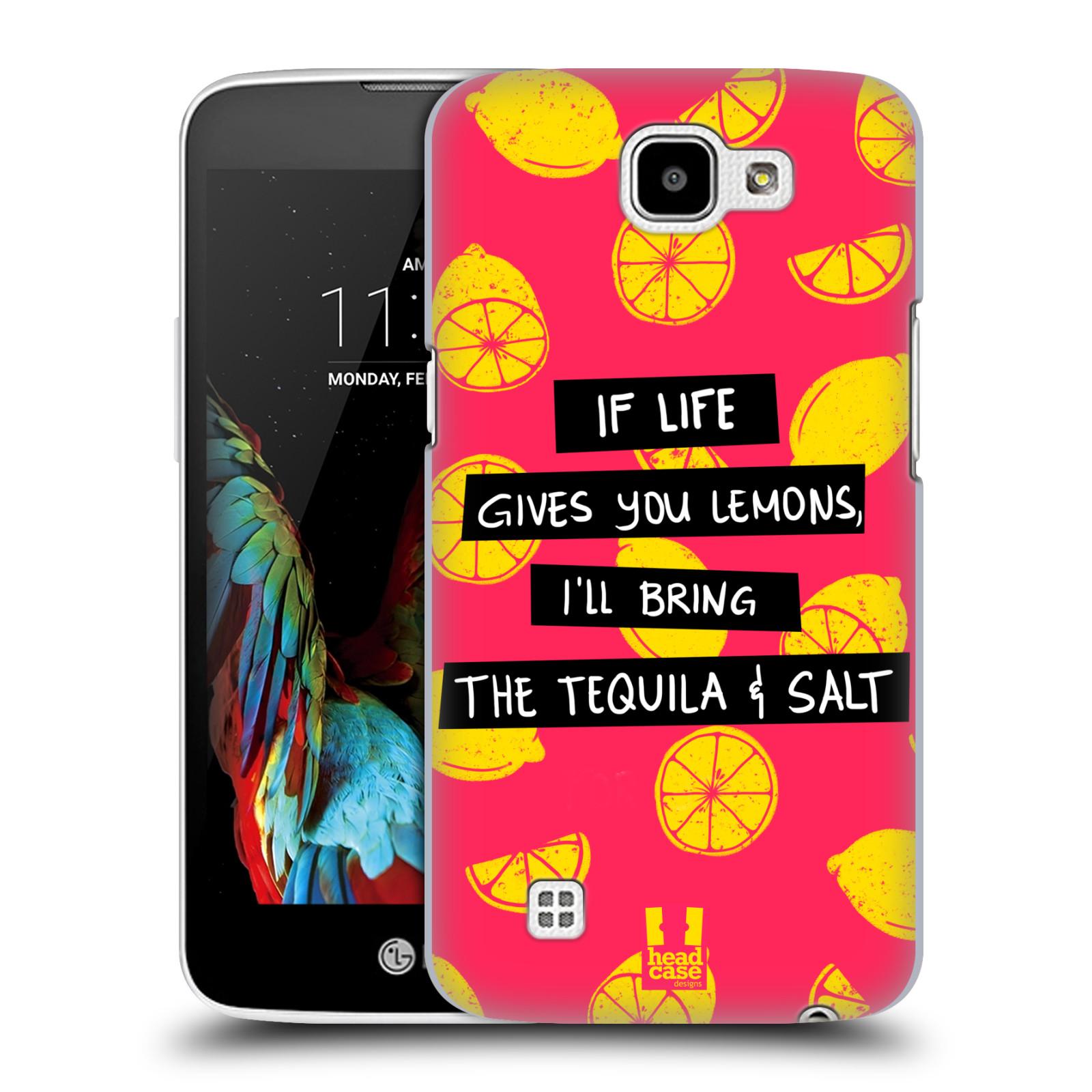 Diseños de la vida y limones HEAD CASE Funda Rígida Posterior Para LG K4