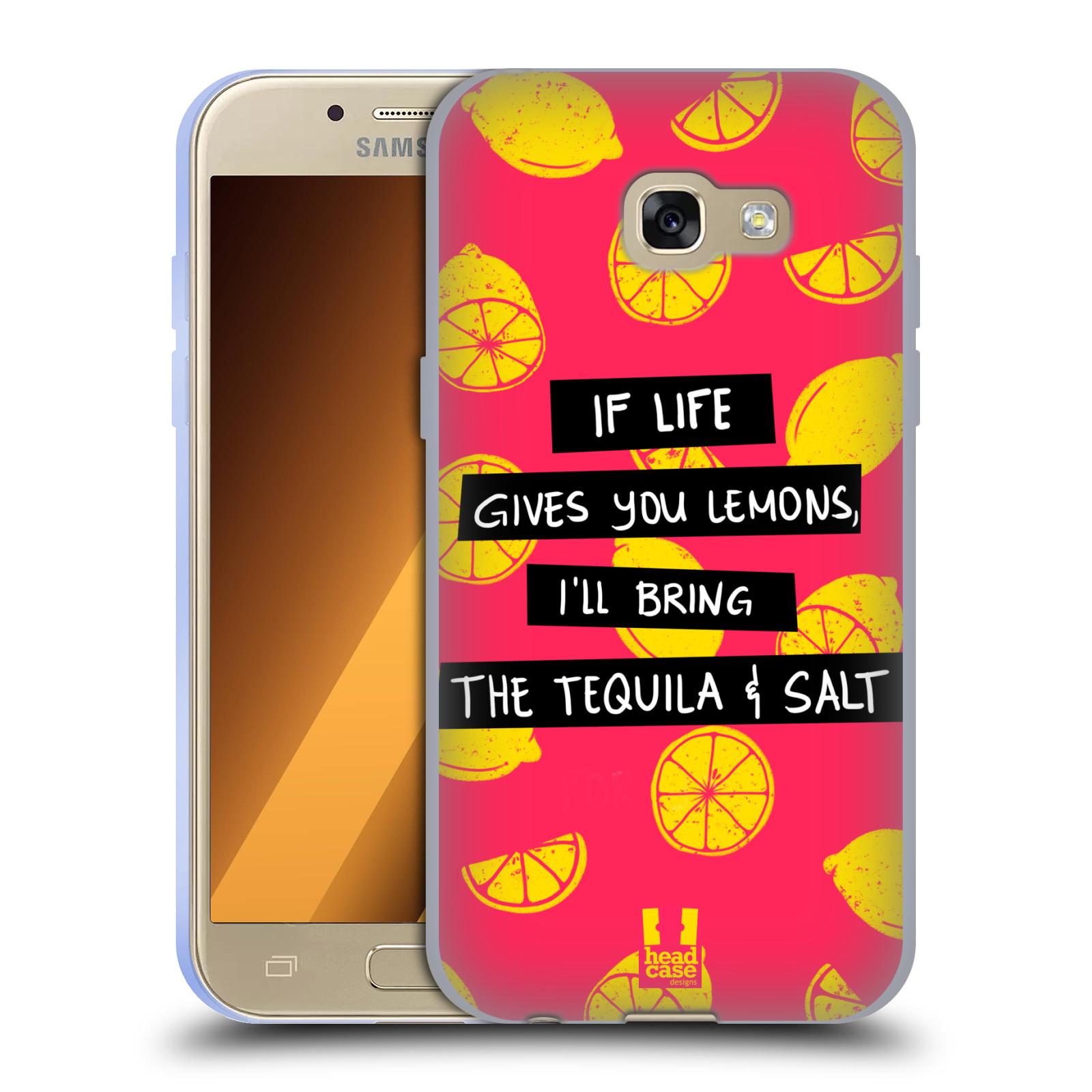 Diseños de la vida y limones HEAD CASE Gel Suave Estuche Para SAMSUNG GALAXY A3 (2017)
