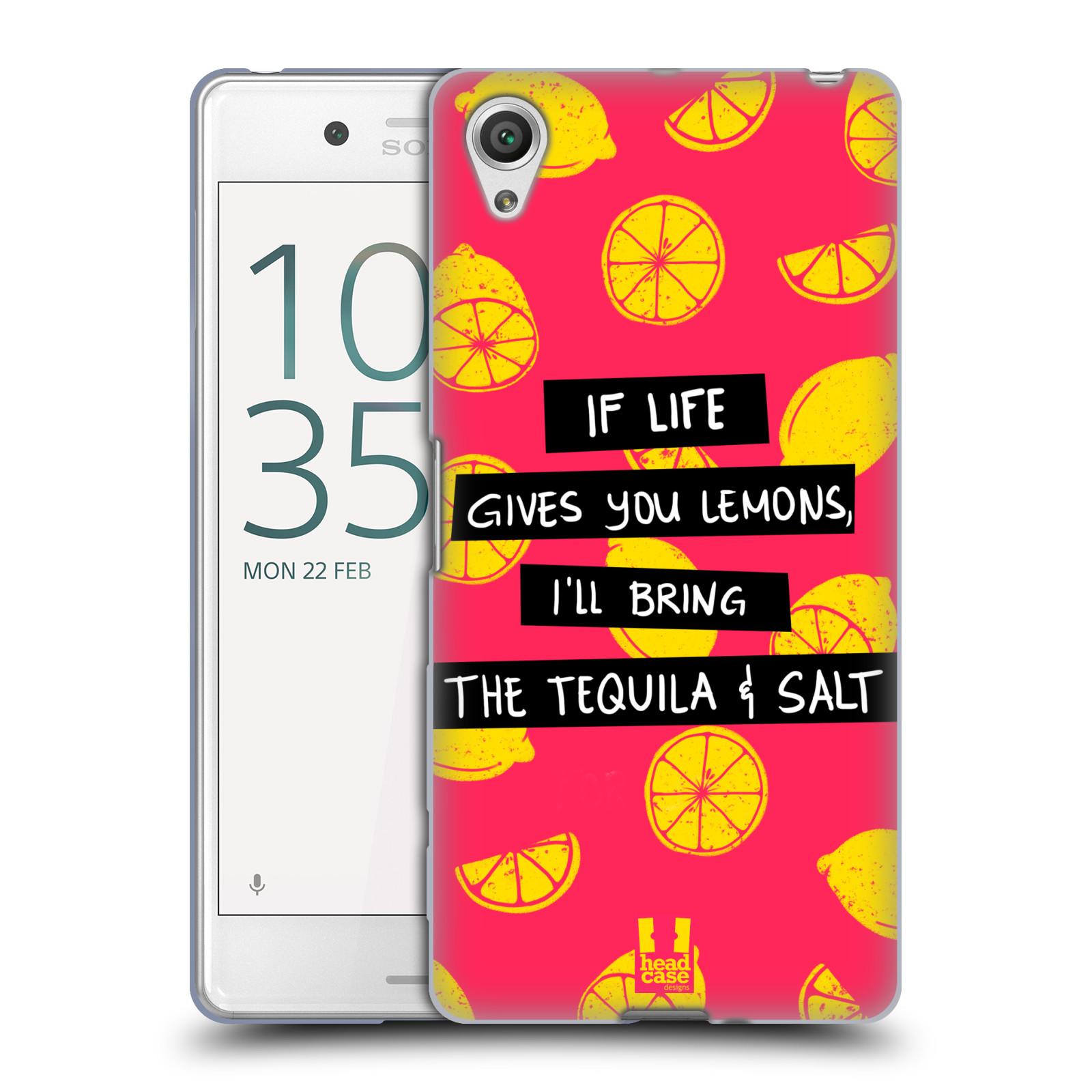 Diseños de la vida y limones HEAD CASE Caso De Gel Suave para un rendimiento SONY XPERIA X