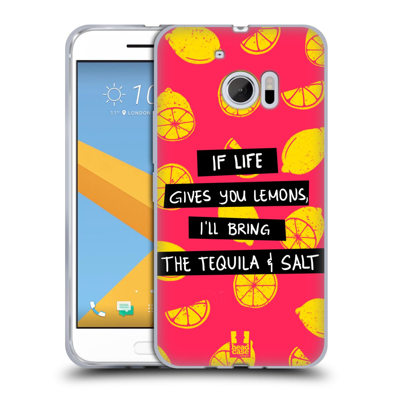 Diseños de la vida y limones HEAD CASE Gel Suave Estuche Para HTC 10