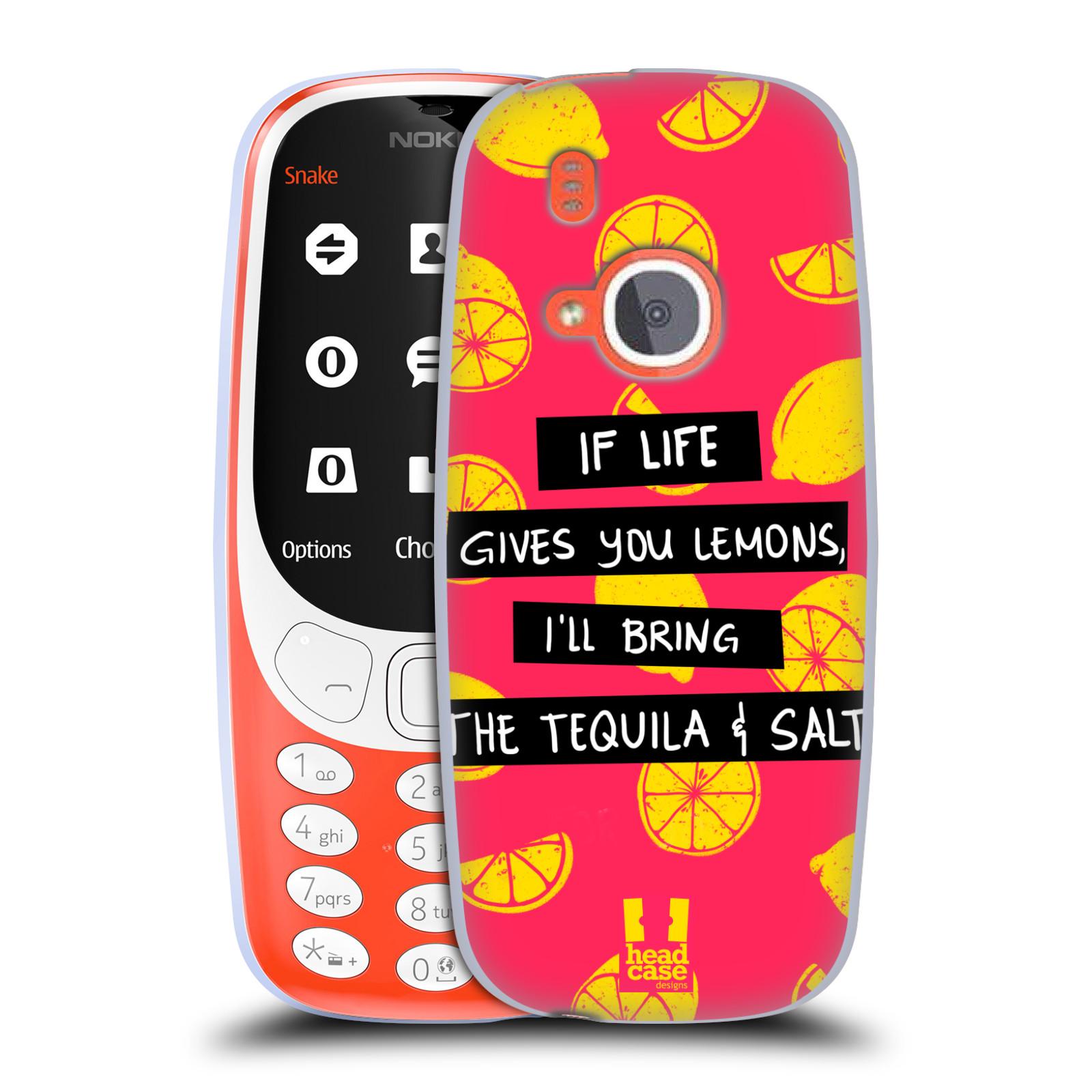 Diseños de la vida y limones HEAD CASE Gel Suave Estuche Para NOKIA 3310 (2017)