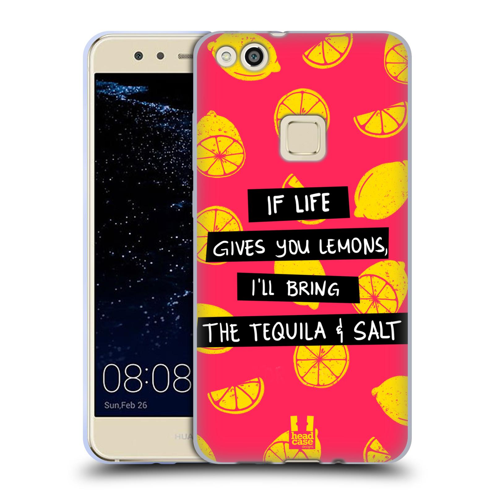 Funda HEAD CASE DESIGNS DE LA VIDA Y Limones Suave con Gel para Huawei P10 Lite