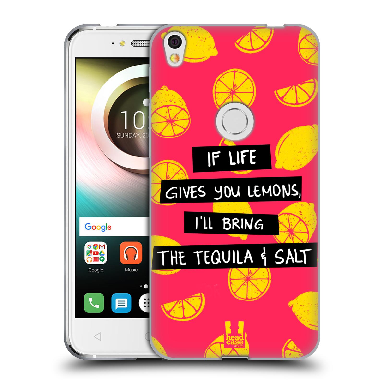 Diseños de la vida y limones HEAD CASE Gel Suave Estuche Para ALCATEL SHINE LITE