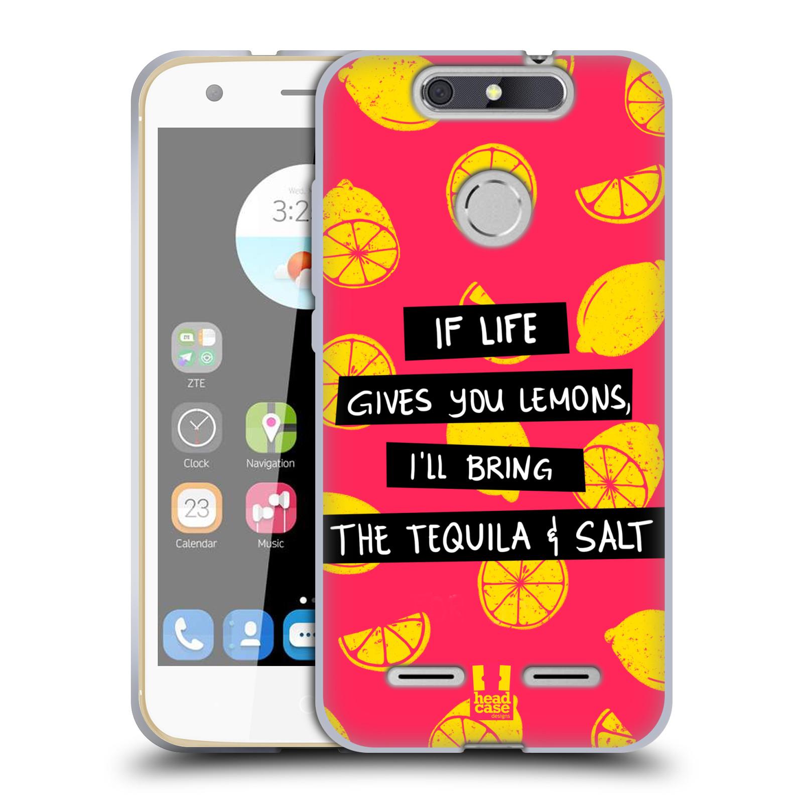 Diseños de la vida y limones HEAD CASE GEL suave estuche para ZTE BLADE V8 Lite