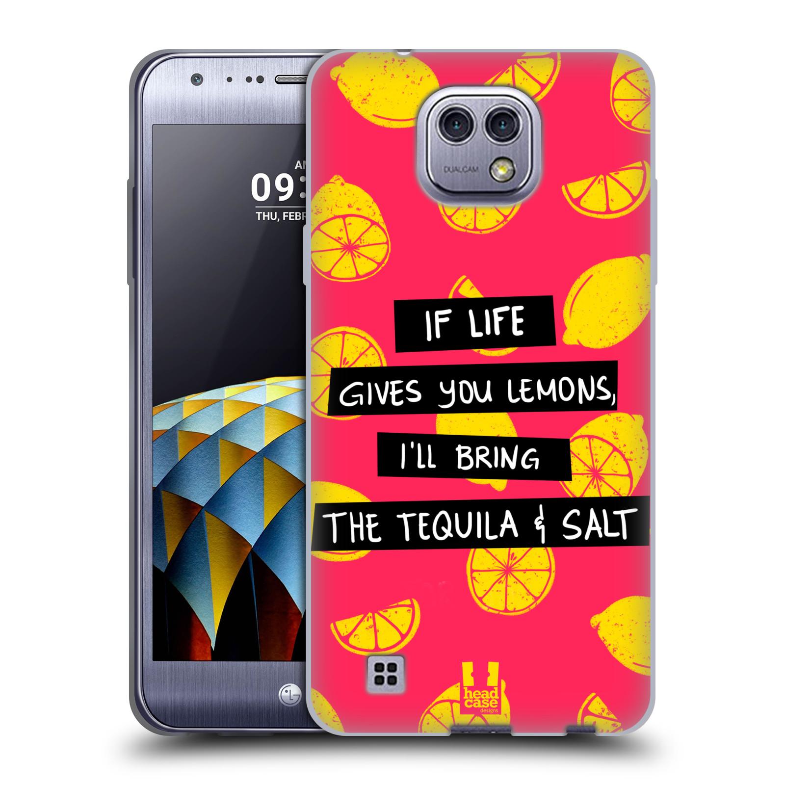 Diseños de la vida y limones HEAD CASE Gel Suave Estuche Para Cámara LG X