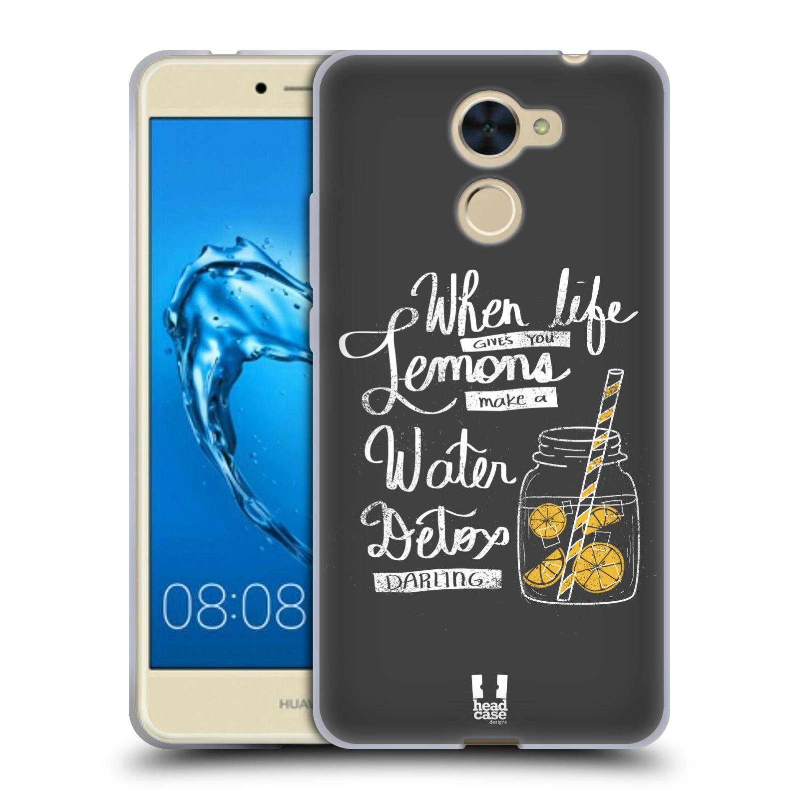 Funda HEAD CASE DESIGNS DE LA VIDA Y Limones Gel caso para Huawei Y7 Prime/disfrutar 7 Plus