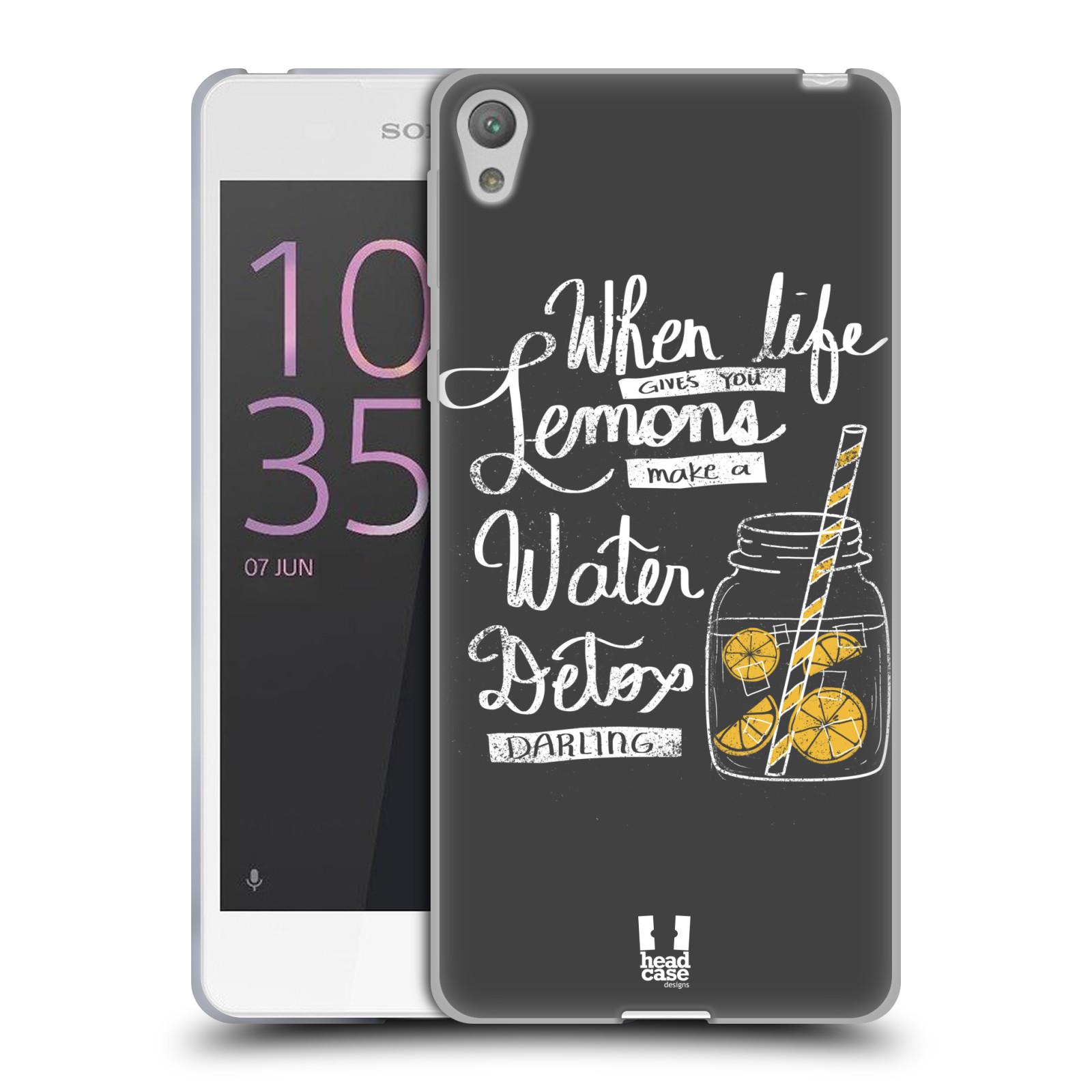 Diseños de la vida y limones HEAD CASE Gel Suave Estuche Para SONY XPERIA E5