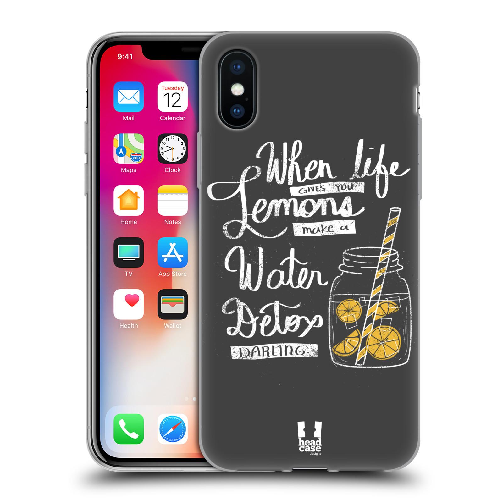 Diseños de la vida y limones HEAD CASE Gel Suave Estuche Para APPLE iPHONE X