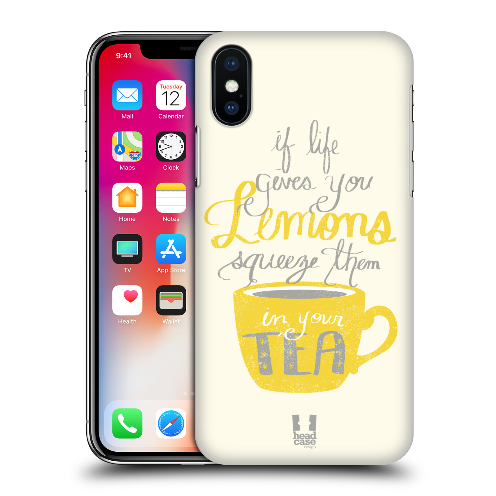 Funda HEAD CASE DESIGNS DE LA VIDA Y Limones Funda Rígida Posterior Para Apple Iphone X