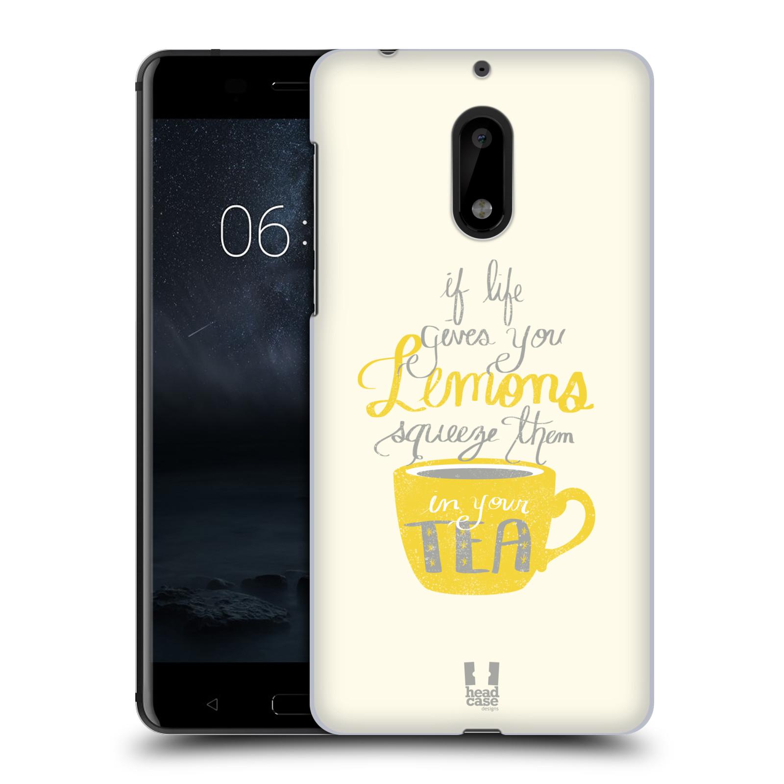 Funda HEAD CASE DESIGNS DE LA VIDA Y Limones funda rígida posterior para Nokia 6