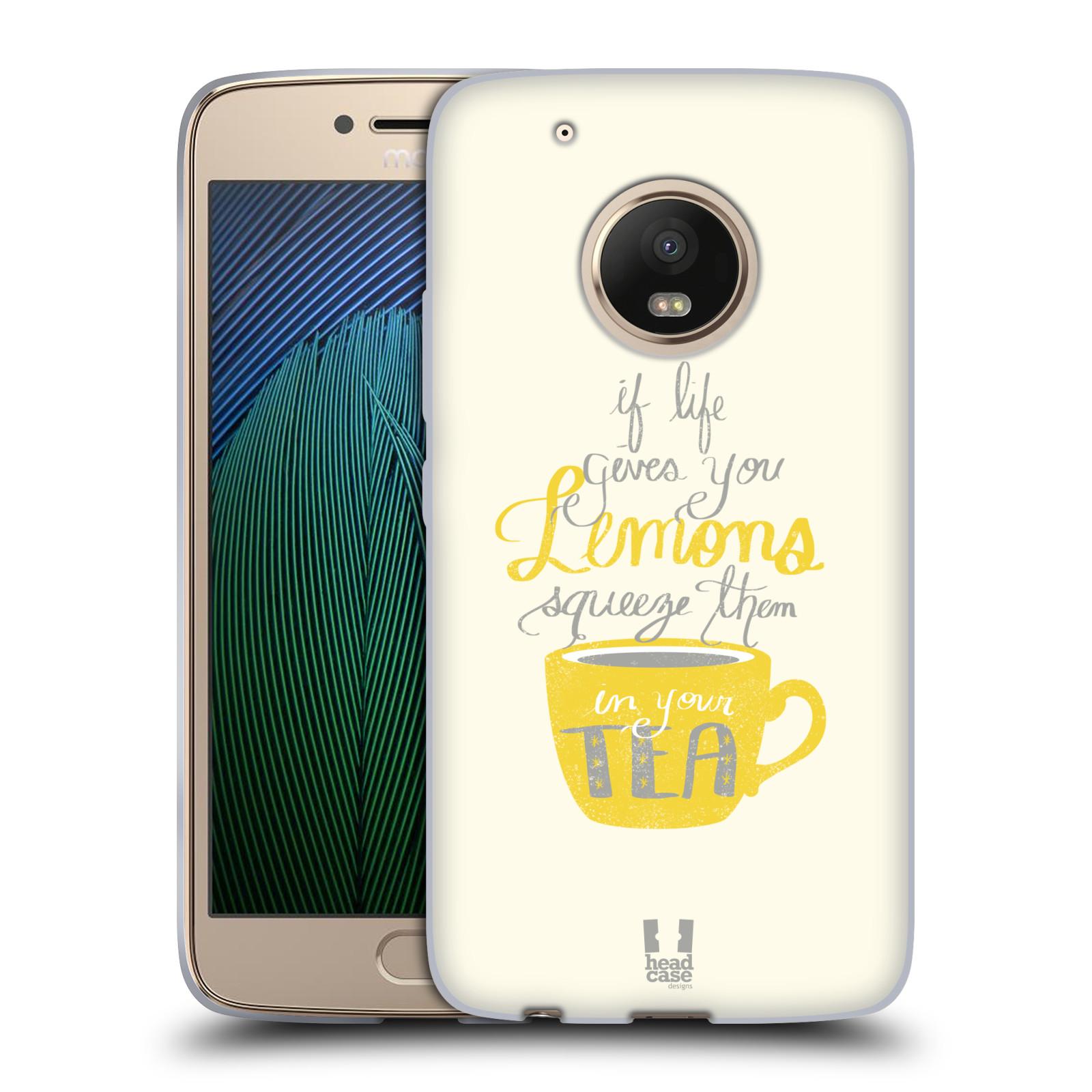Funda HEAD CASE DESIGNS DE LA VIDA Y Limones Suave con Gel para Motorola Moto G5 Plus