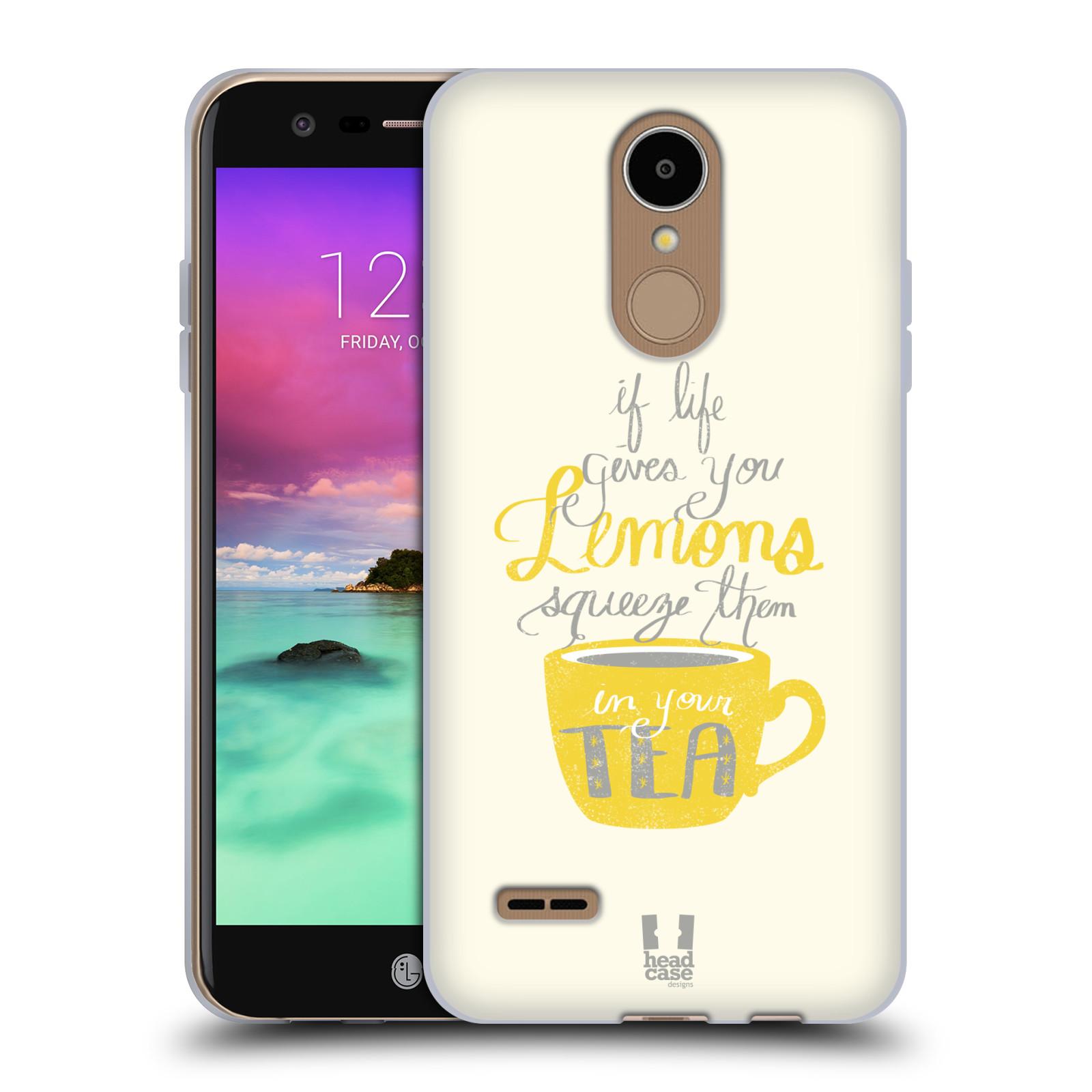 Diseños de la vida y limones HEAD CASE Gel Suave Estuche Para LG K8 (2017)