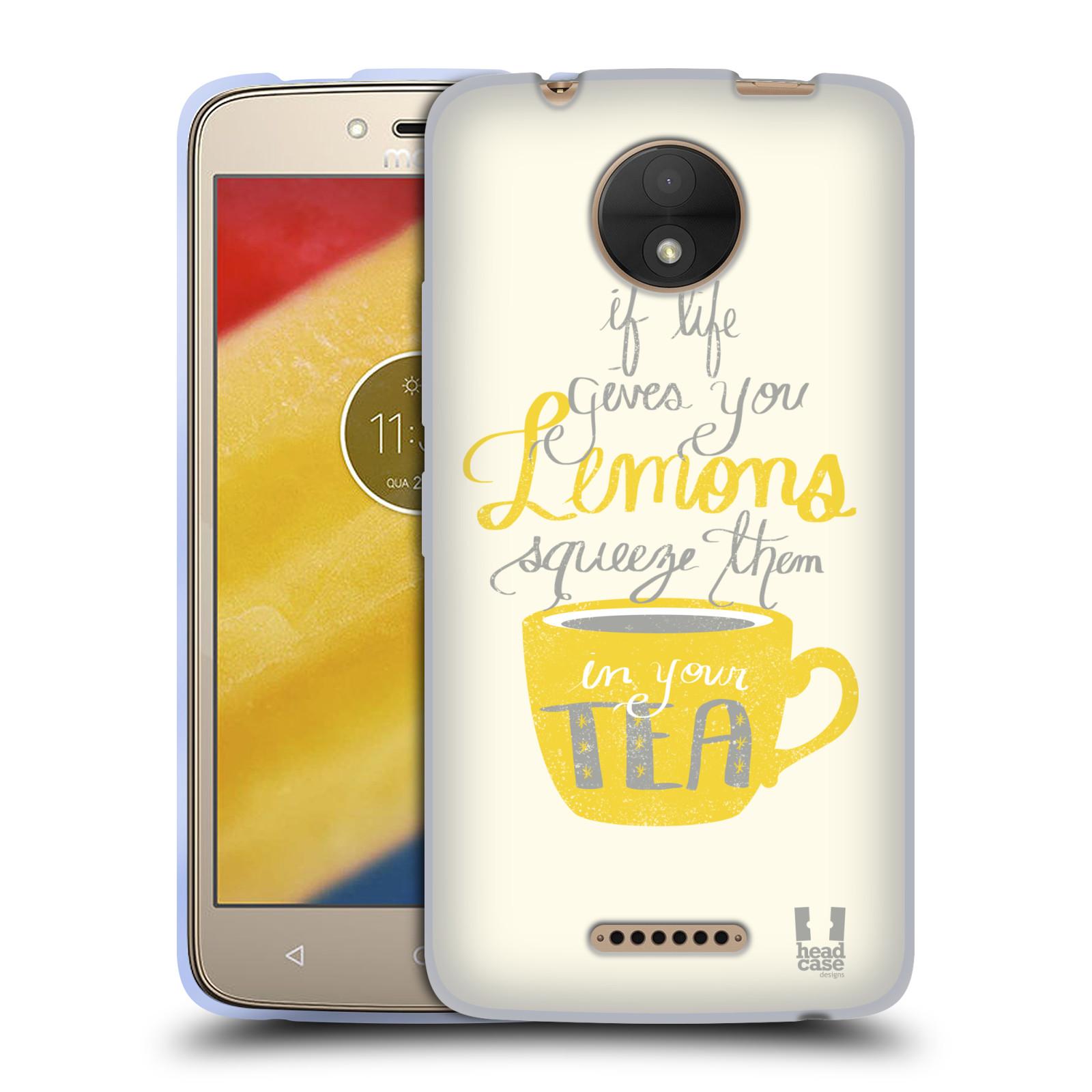 Diseños de la vida y limones HEAD CASE GEL suave estuche para MOTOROLA MOTO C