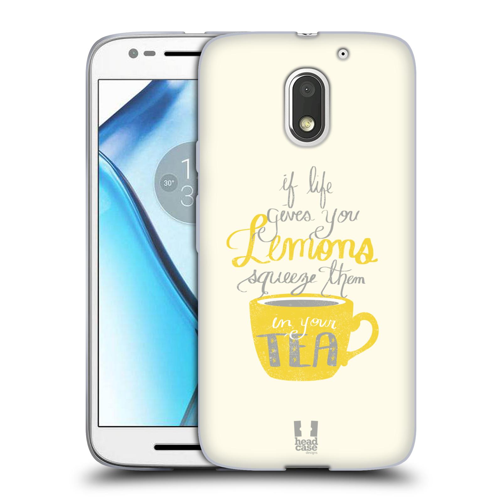 Funda HEAD CASE DESIGNS DE LA VIDA Y Limones Suave con Gel para Motorola Moto E3