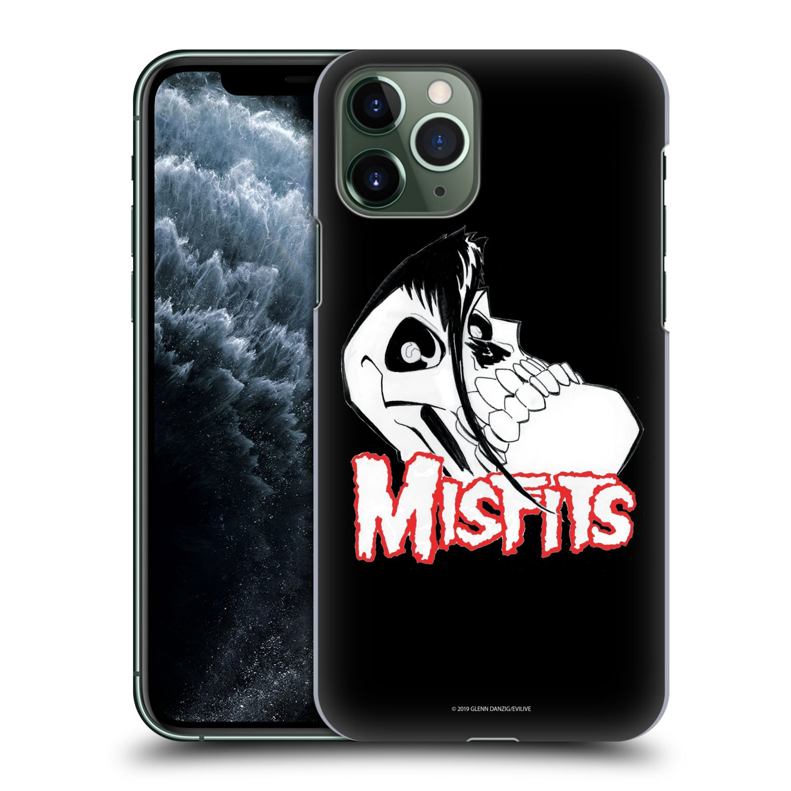 Official Misfits Band Art Skull 2 Case for Apple iPhone 11 Pro