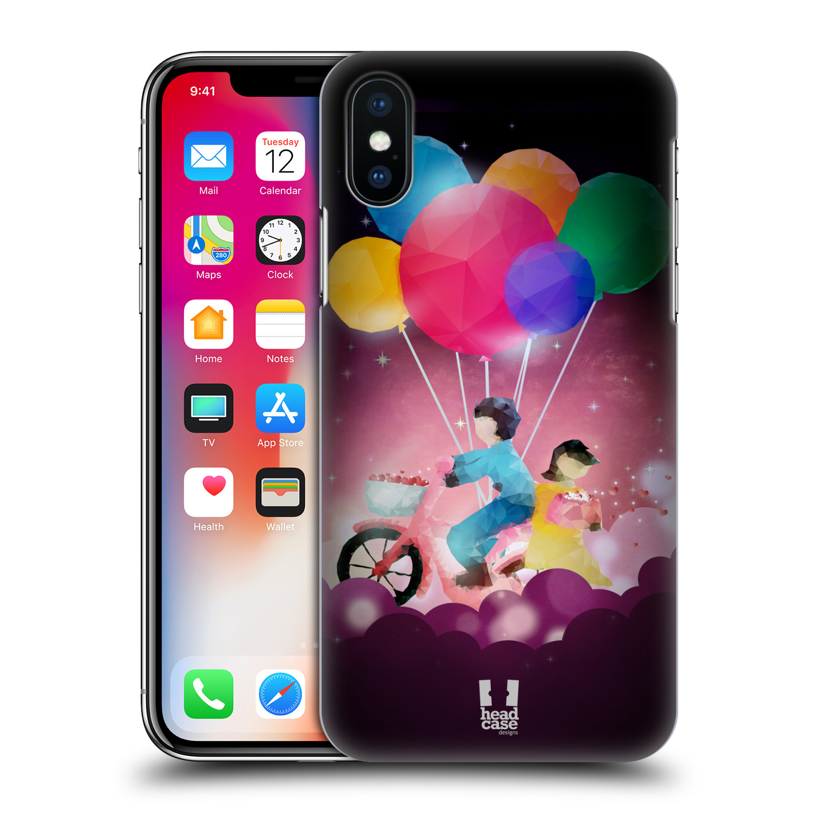 HEAD-CASE-DESIGNS-LOVE-AFLOAT-HARD-BACK-CASE-FOR-APPLE-iPHONE-X