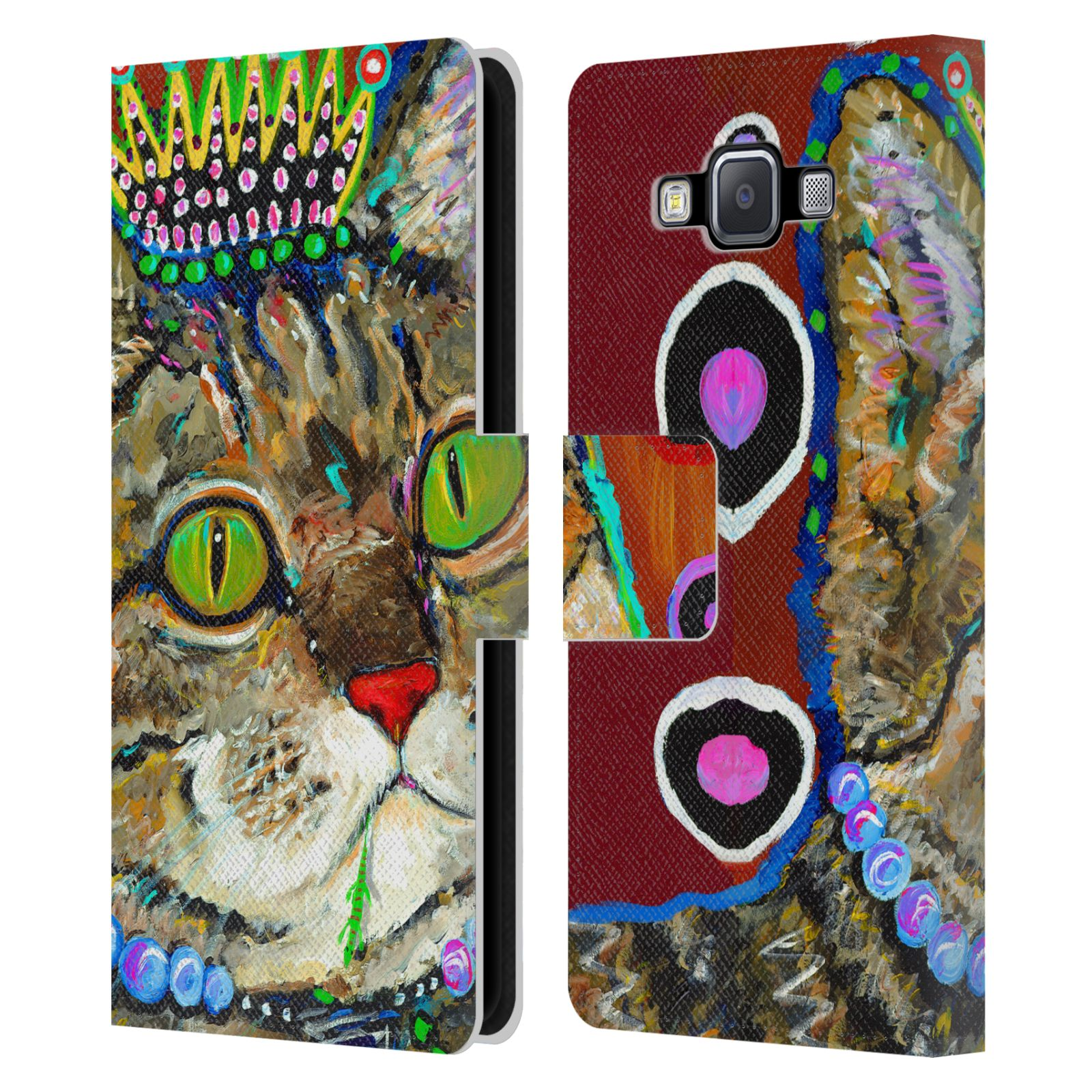 OFFICIAL-MAD-DOG-ART-GALLERY-CATS-LEATHER-BOOK-WALLET-CASE-FOR-SAMSUNG-PHONES-2