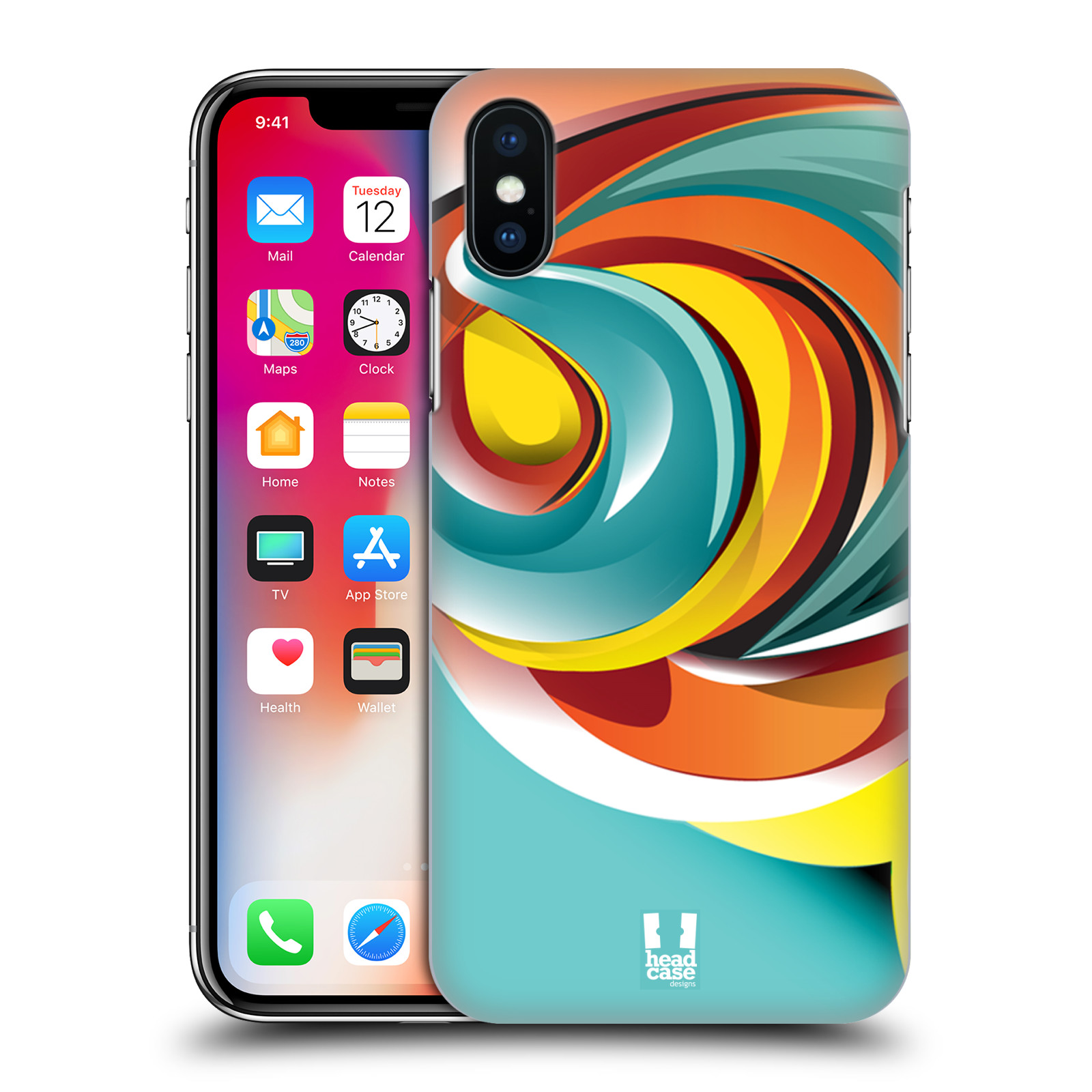 HEAD-CASE-DESIGNS-MARBLES-HARD-BACK-CASE-FOR-APPLE-iPHONE-X
