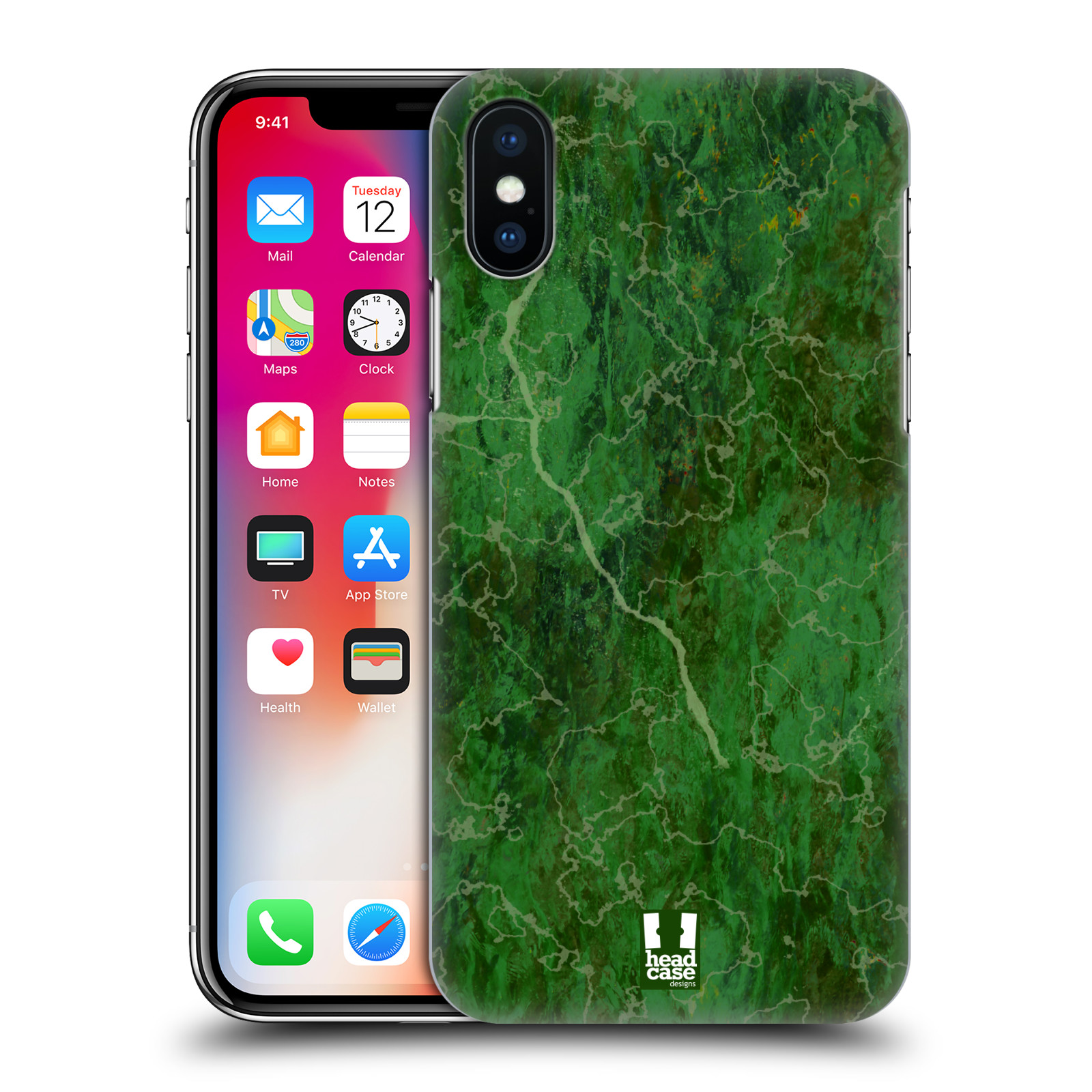 HEAD-CASE-DESIGNS-MARBLE-PRINTS-HARD-BACK-CASE-FOR-APPLE-iPHONE-X