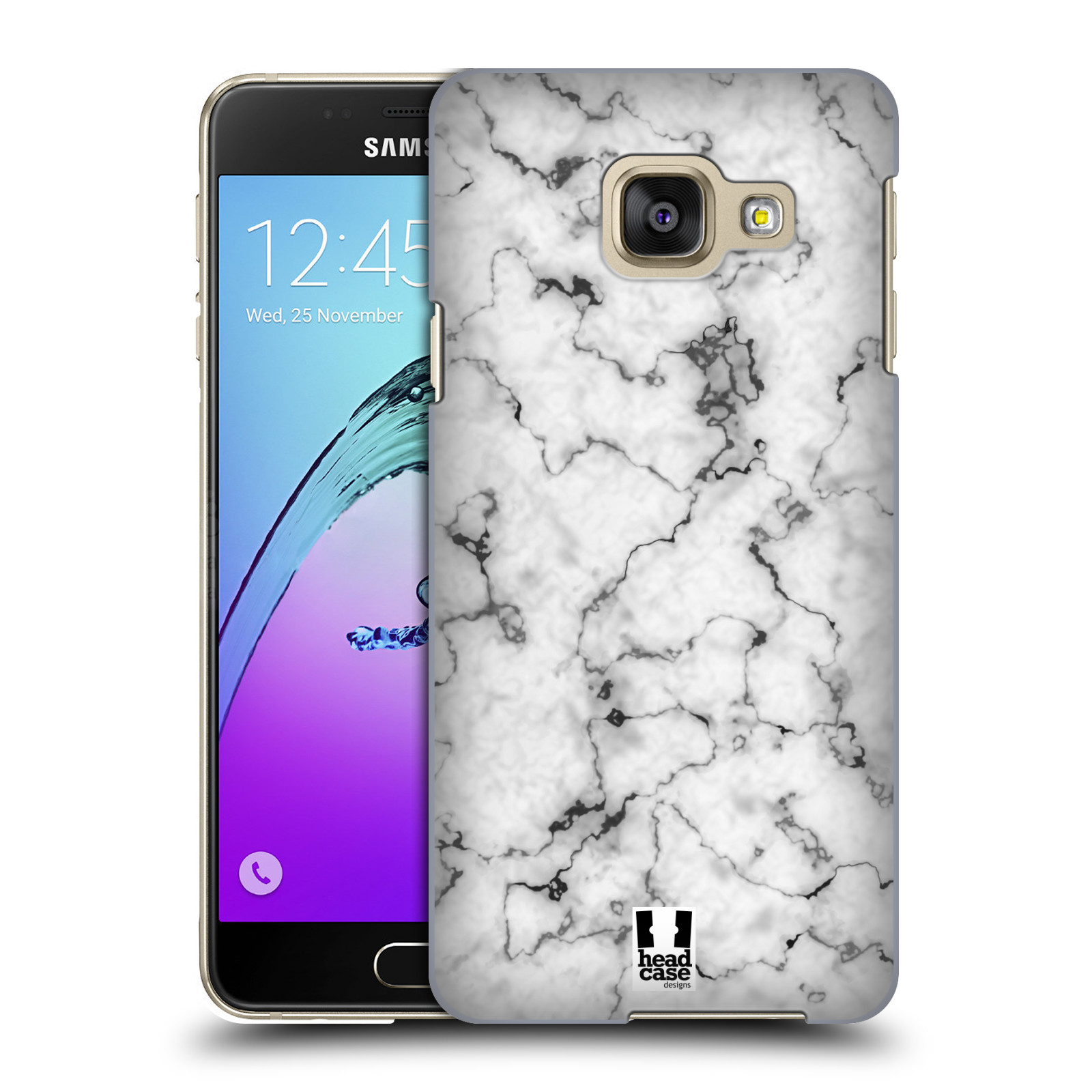 Plastové pouzdro na mobil Samsung Galaxy A3 (2016) - Head Case - Bílý mramor